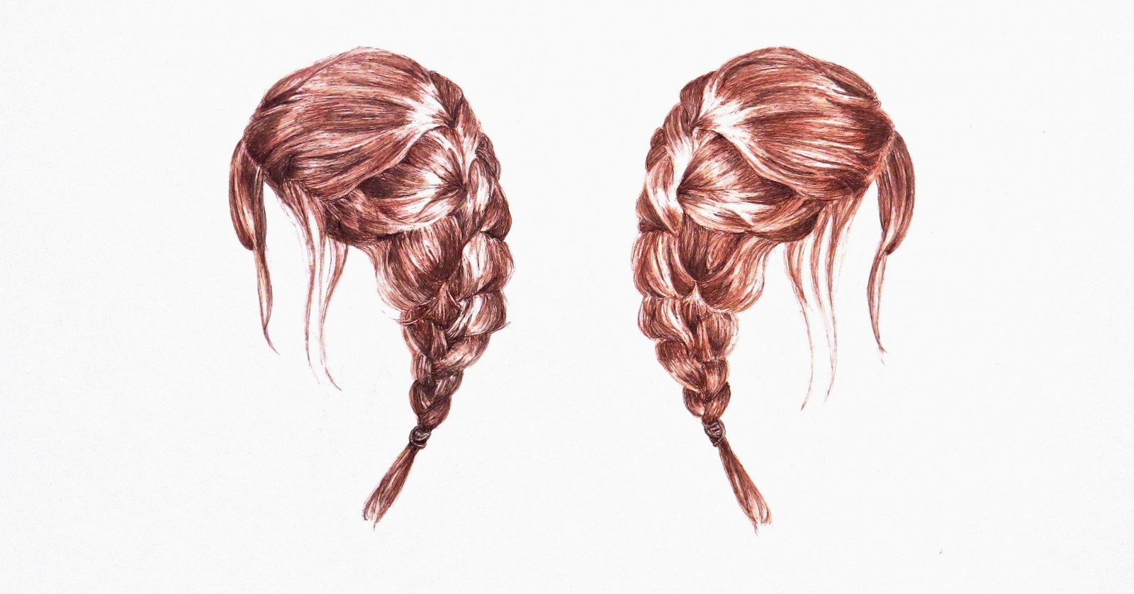 """""""Braids,"""" a 2016 ink on paper drawing by Tricia Butski, is on view in 78 Summer Street from April 28 to 30."""