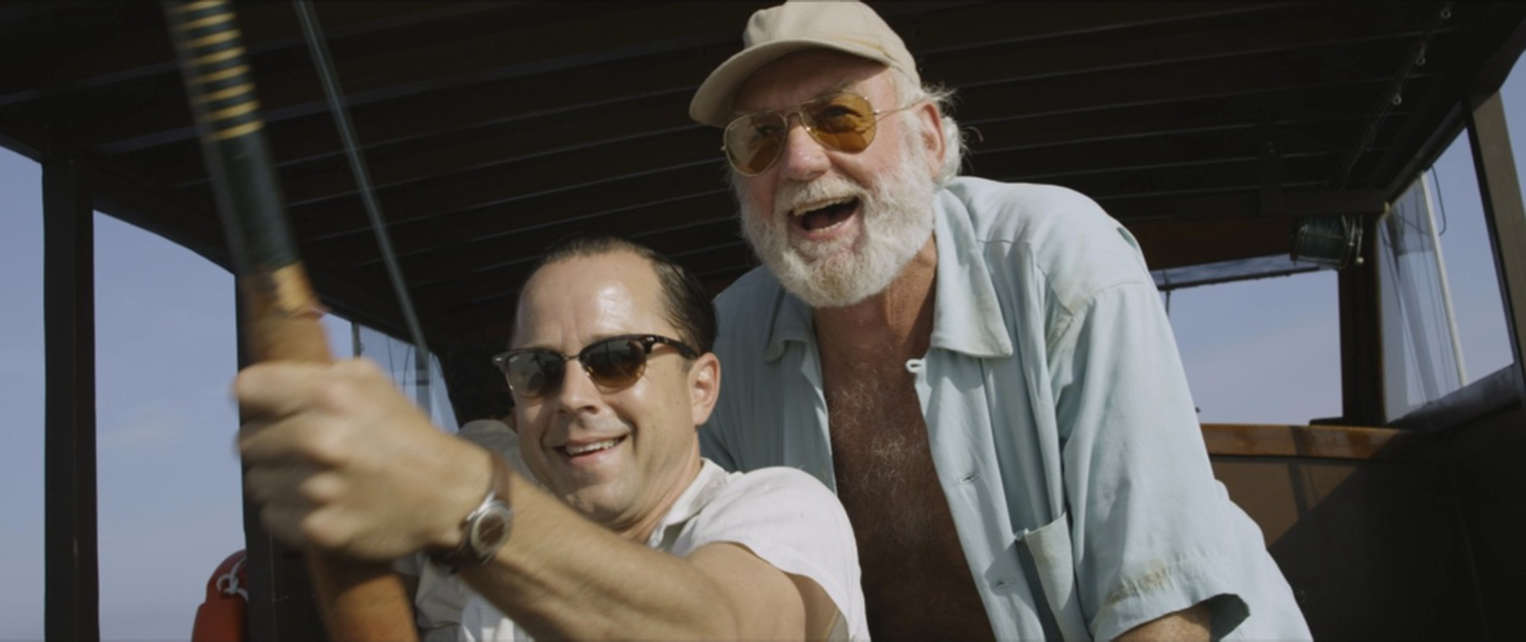 "Giovanni Ribisi, left, and Adrian Sparks star in ""Papa Hemingway in Cuba."""