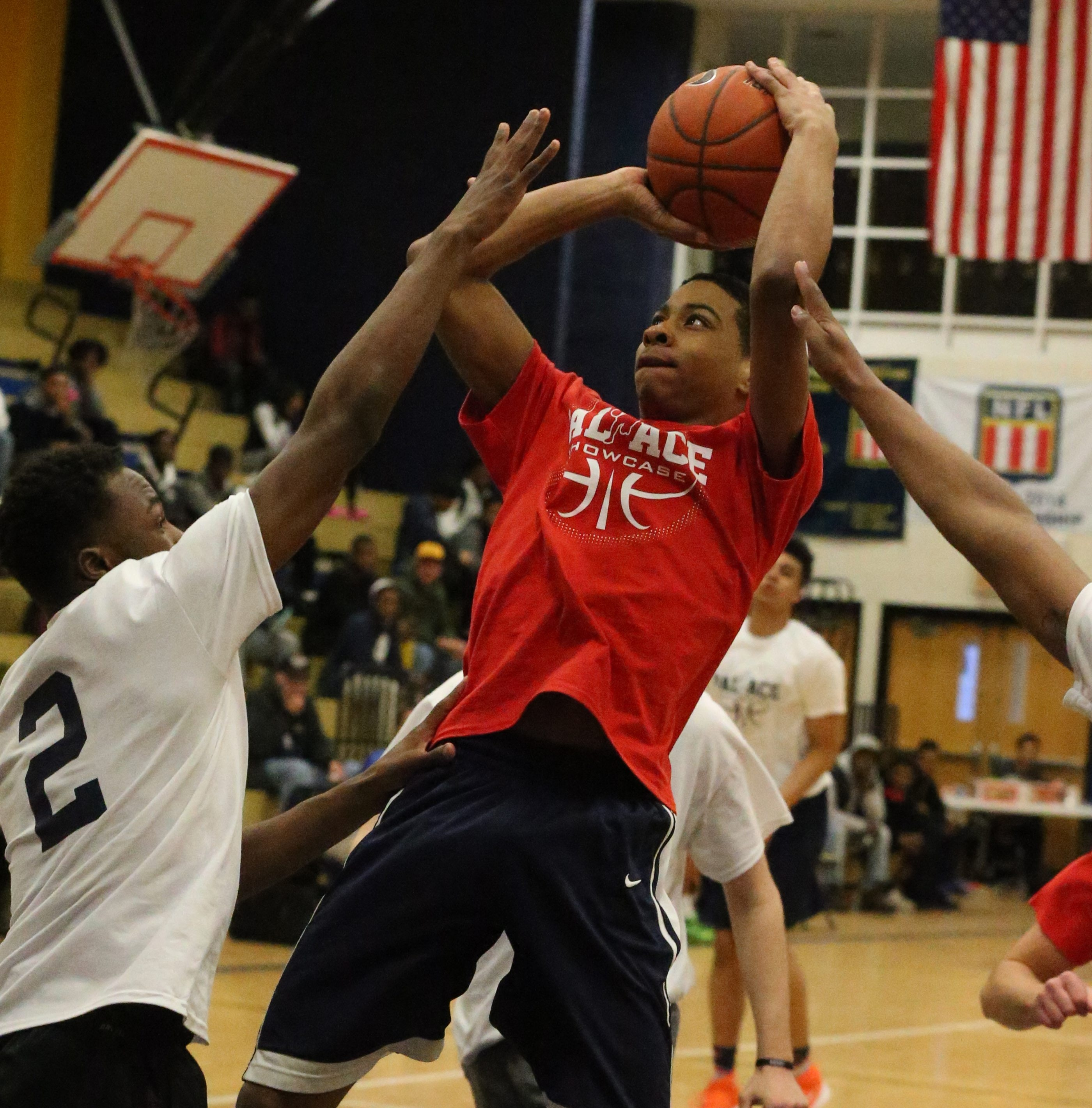 North's Qeyion Williams scores against the South all-stars during the PAL/ACE junior/senior game at Niagara Falls High School.