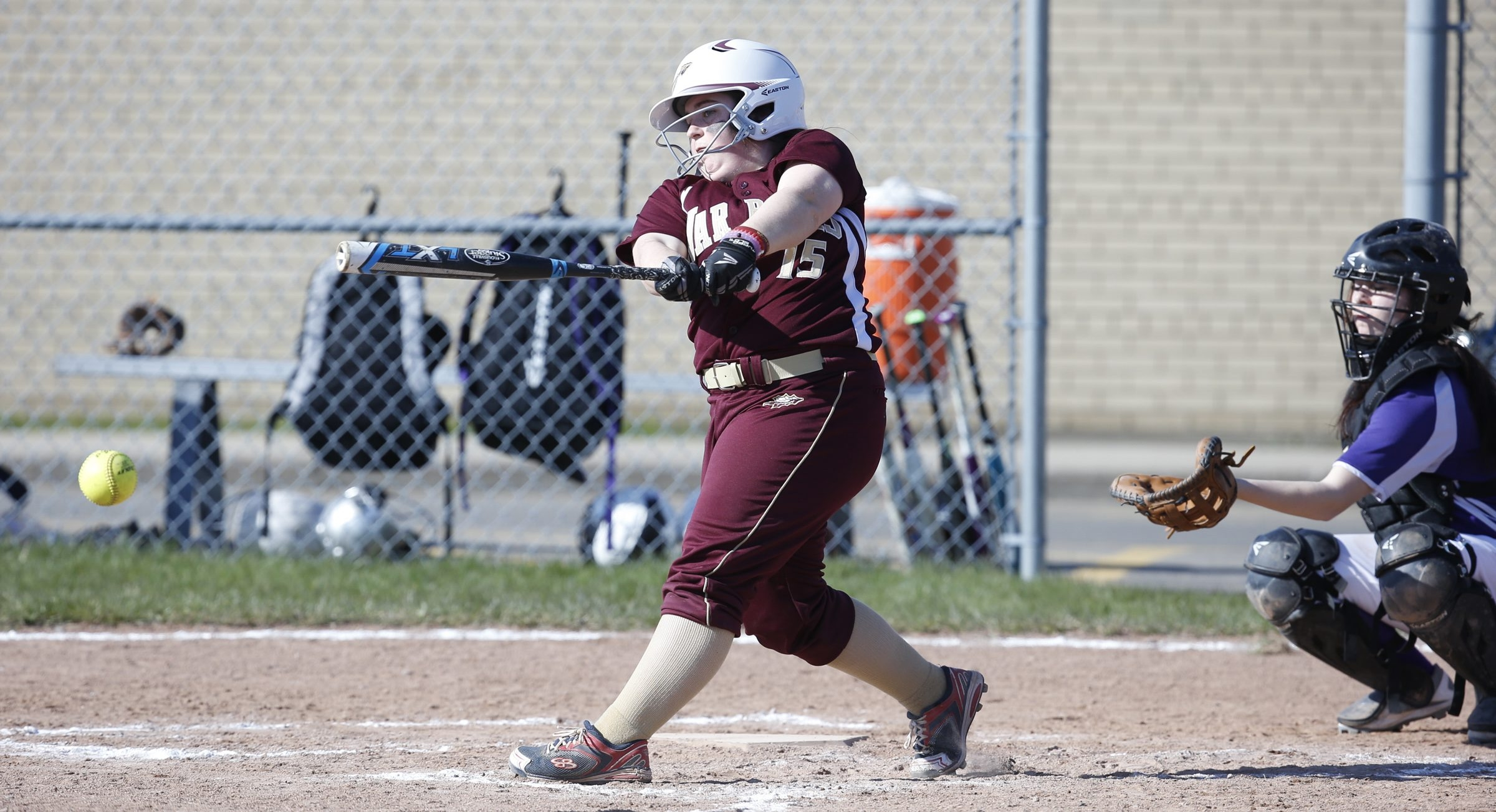 Cheektowaga's Morgan Wozniak plated three runs with this hit in the first inning Friday in an ECIC III contest against Springville. The Warriors improved to 2-0 thanks to a 12-9 victory.
