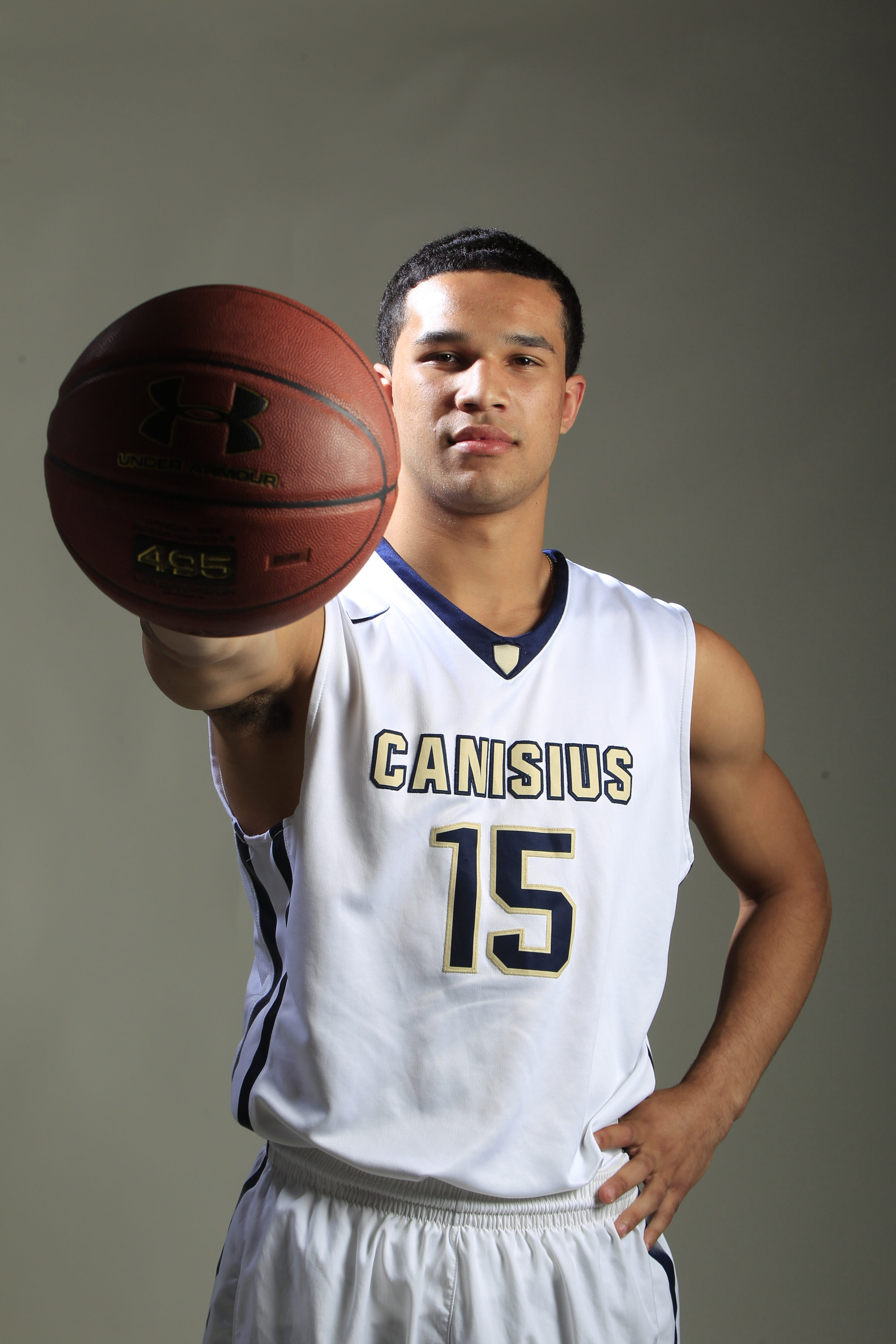 Justin Jones, Canisius High School,,All-WNY basketball player on Monday, April 4, 2016. (Harry Scull Jr./Buffalo News)