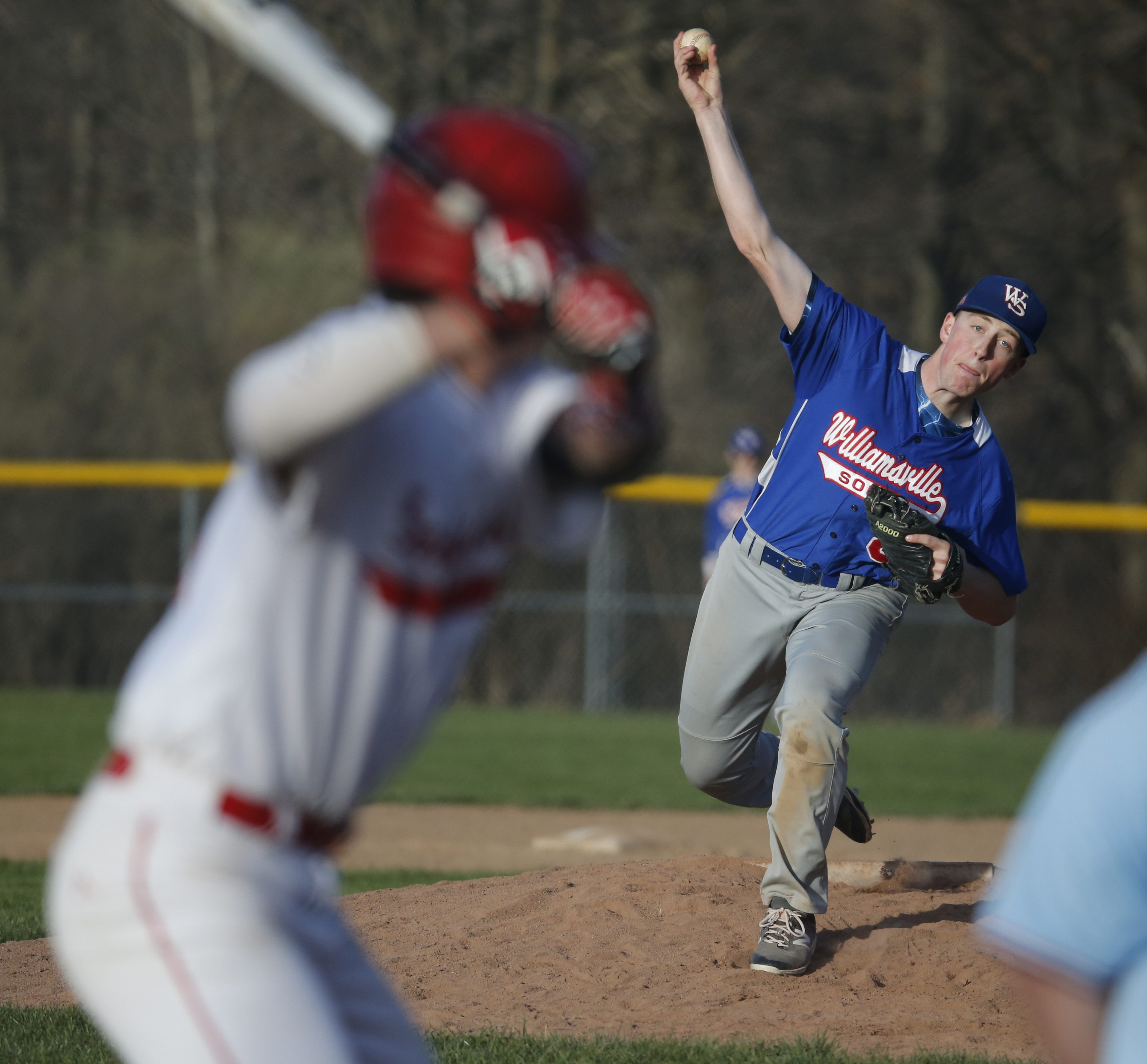 Williamsville South pitcher Joe Zanelotti went the distance for a complete game in the Billies' 13-2 win over Iroquois Wednesday.