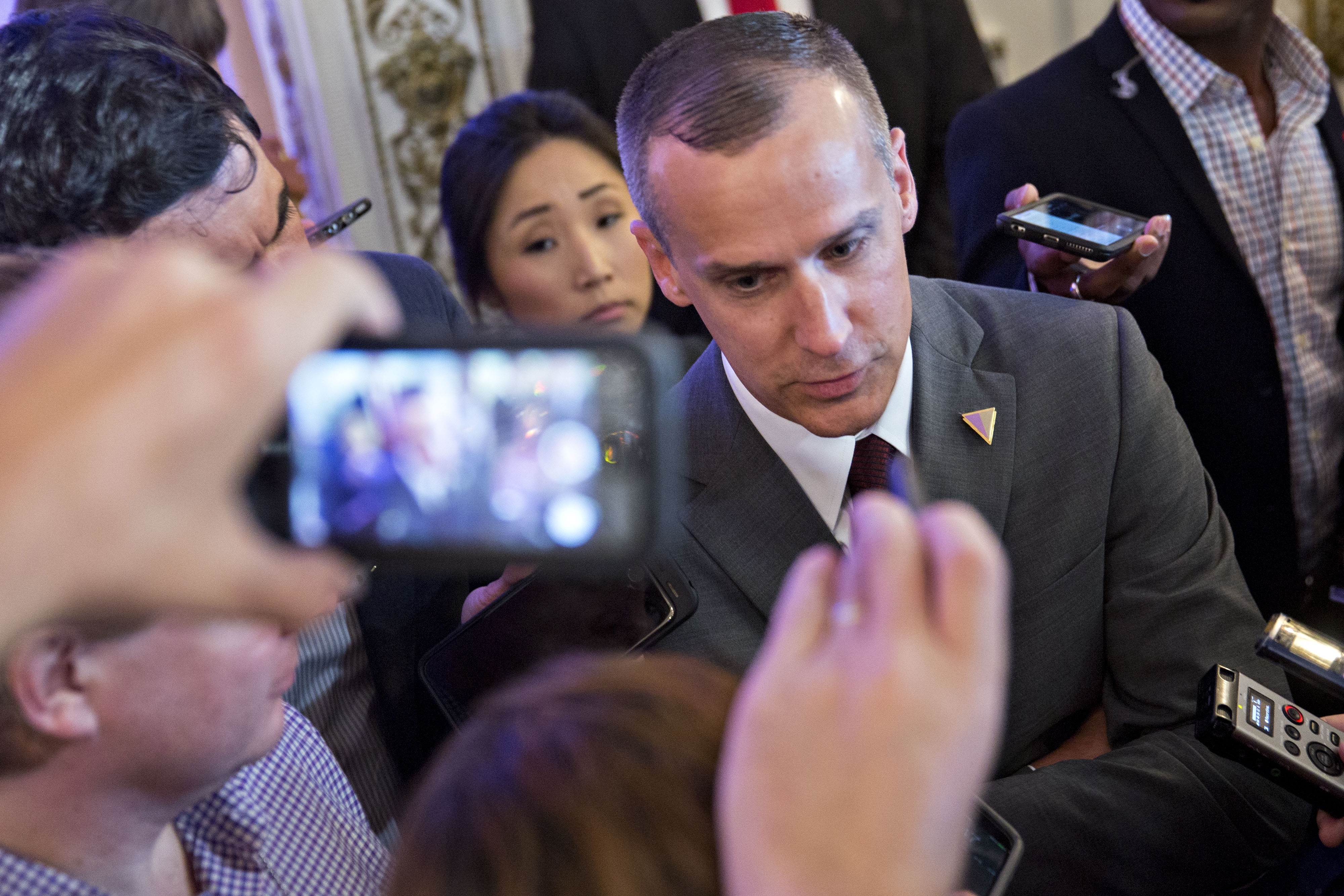 Corey Lewandowski, 42, had faced one misdemeanor count of battery as a result of the March 8 incident with reporter Michelle Fields. (Bloomberg)