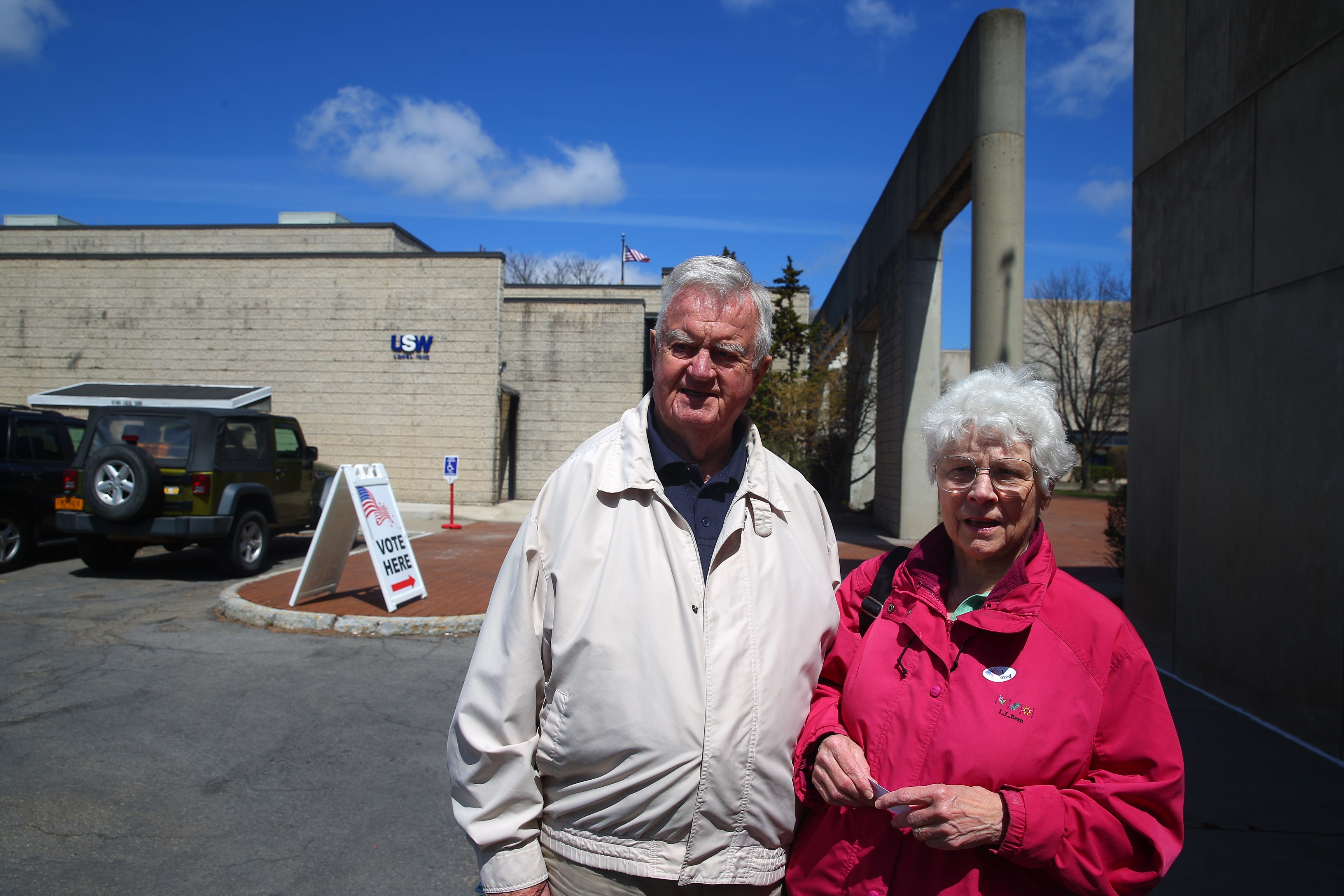 Richard and Joan Quigley voted for John Kasich in the Republican presidential primary at the United Steelworkers Local 1000 Union Hall in Corning on April 19.