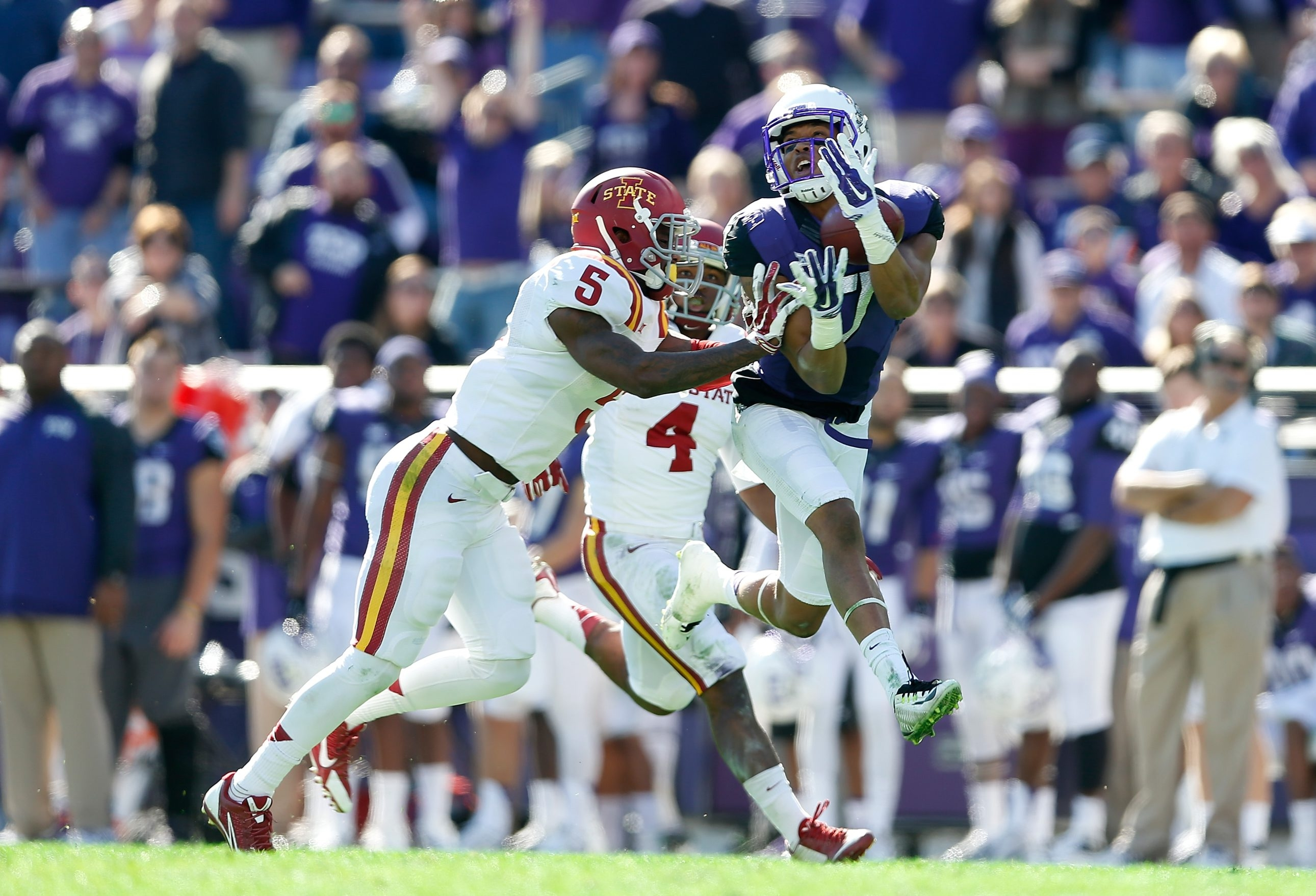 TCU wide receiver Kolby Listenbee, a track All-American, has a game that is all about speed.