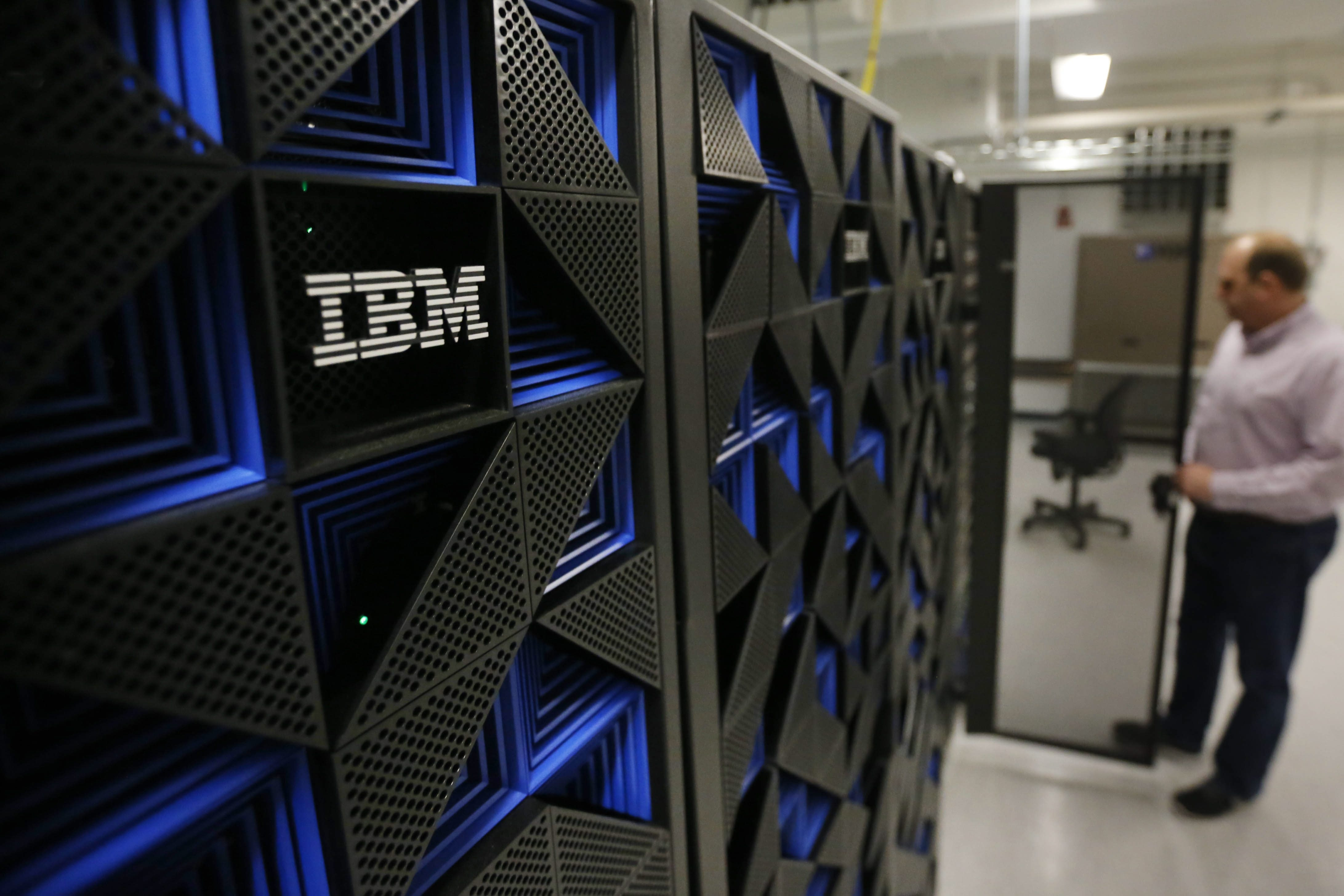 Servers in the new IBM Buffalo Innovation Center in Key Tower.  (Derek Gee/Buffalo News)