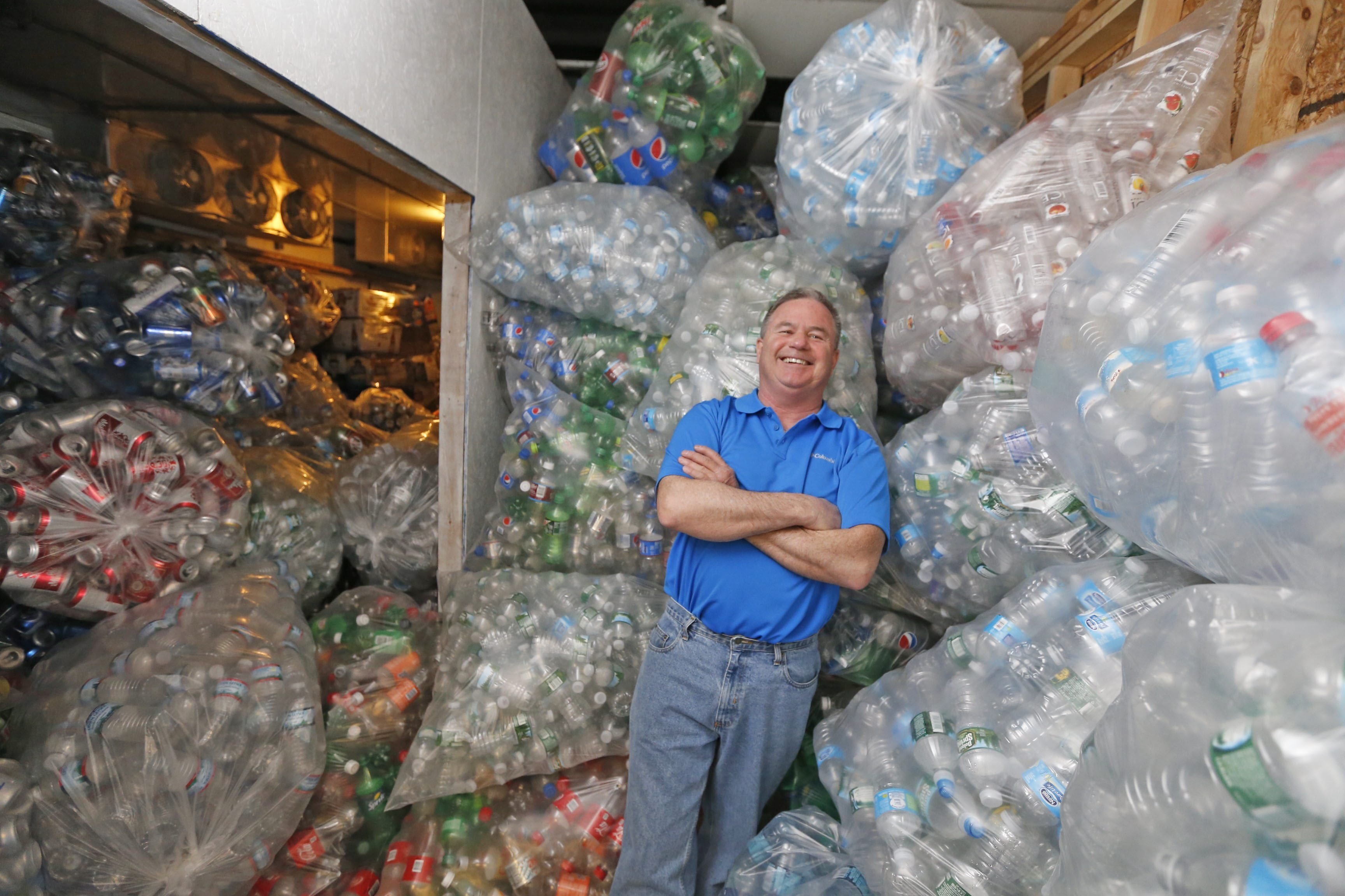 """""""We had 100 people come in last Saturday to return bottles and cans, and this is only April,"""" said Doug Adamson of The Porter Center. """"Our busy season is May to July 4."""""""