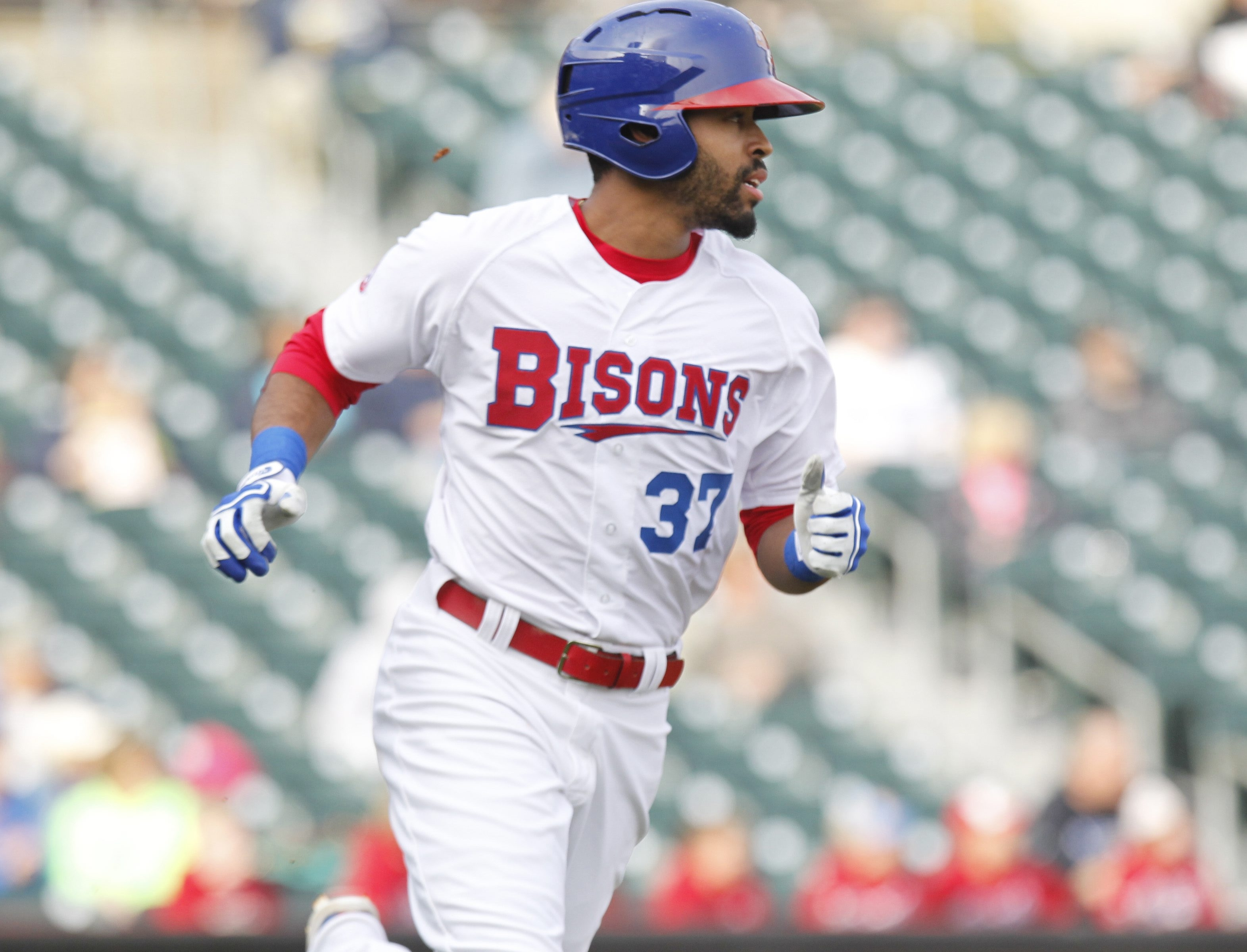 Dalton Pompey has returned to the Bisons' lineup after missing five games with a toe injury. (Harry Scull Jr./Buffalo News file photo)