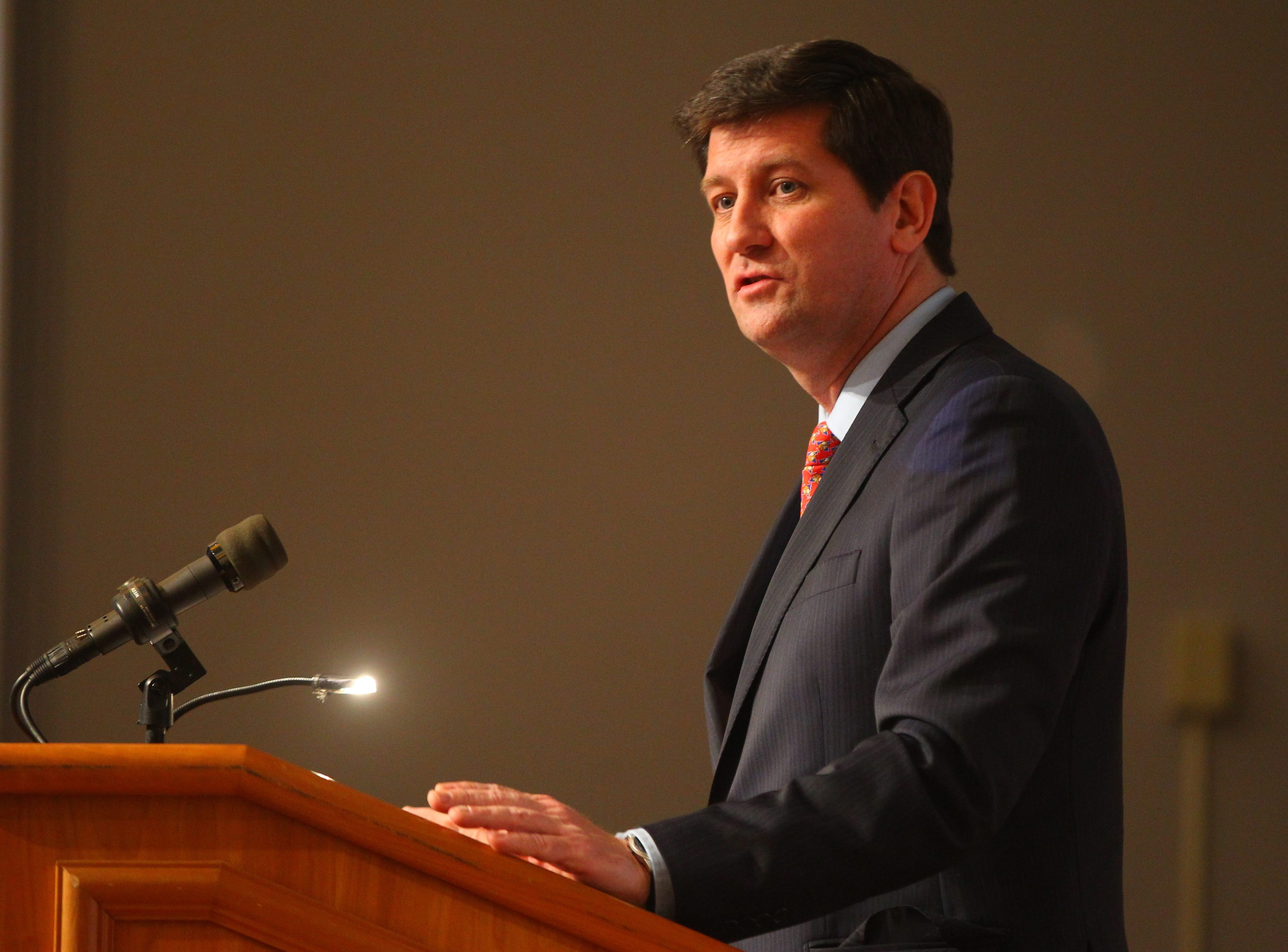 Budget surplus money would help jump-start Erie County Executive Mark Poloncarz's most ambitious leadership agenda in years, which was outlined in his State of the County address.  (Mark Mulville/Buffalo News)