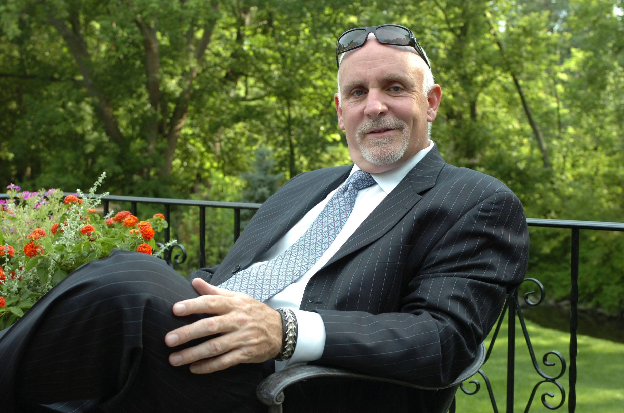 A News file photo of developer William Huntress at his Amherst home. (News file photo)