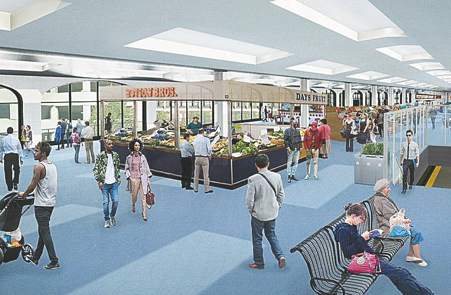 The plan to make over the DL&W Terminal would have shops on the second level.
