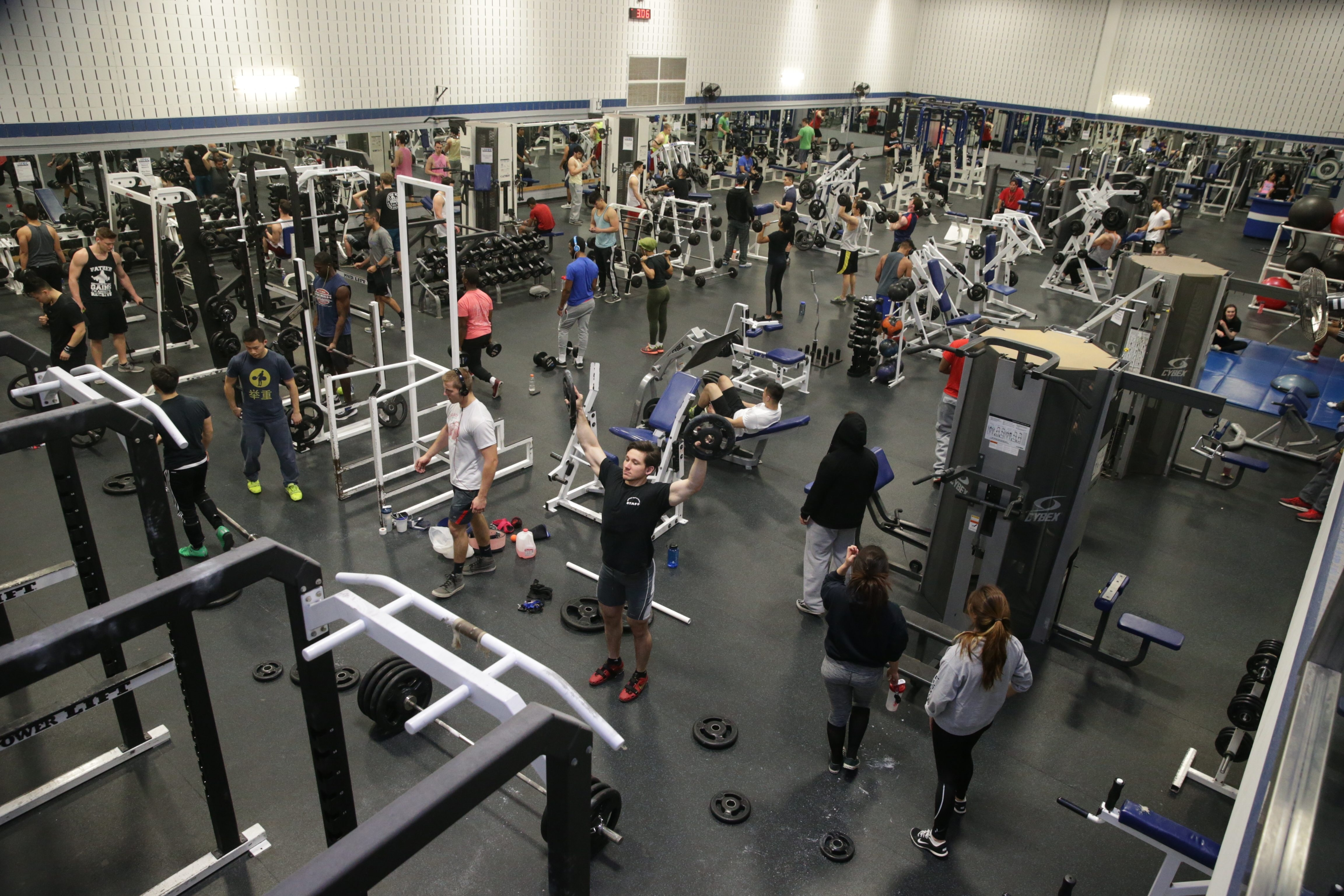 UB students and members of the community use the Alumni Arena Fitness Center in Amherst. UB officials acknowledge the need for improved and additional recreational space on both the North and South campuses. (John Hickey/Buffalo News)