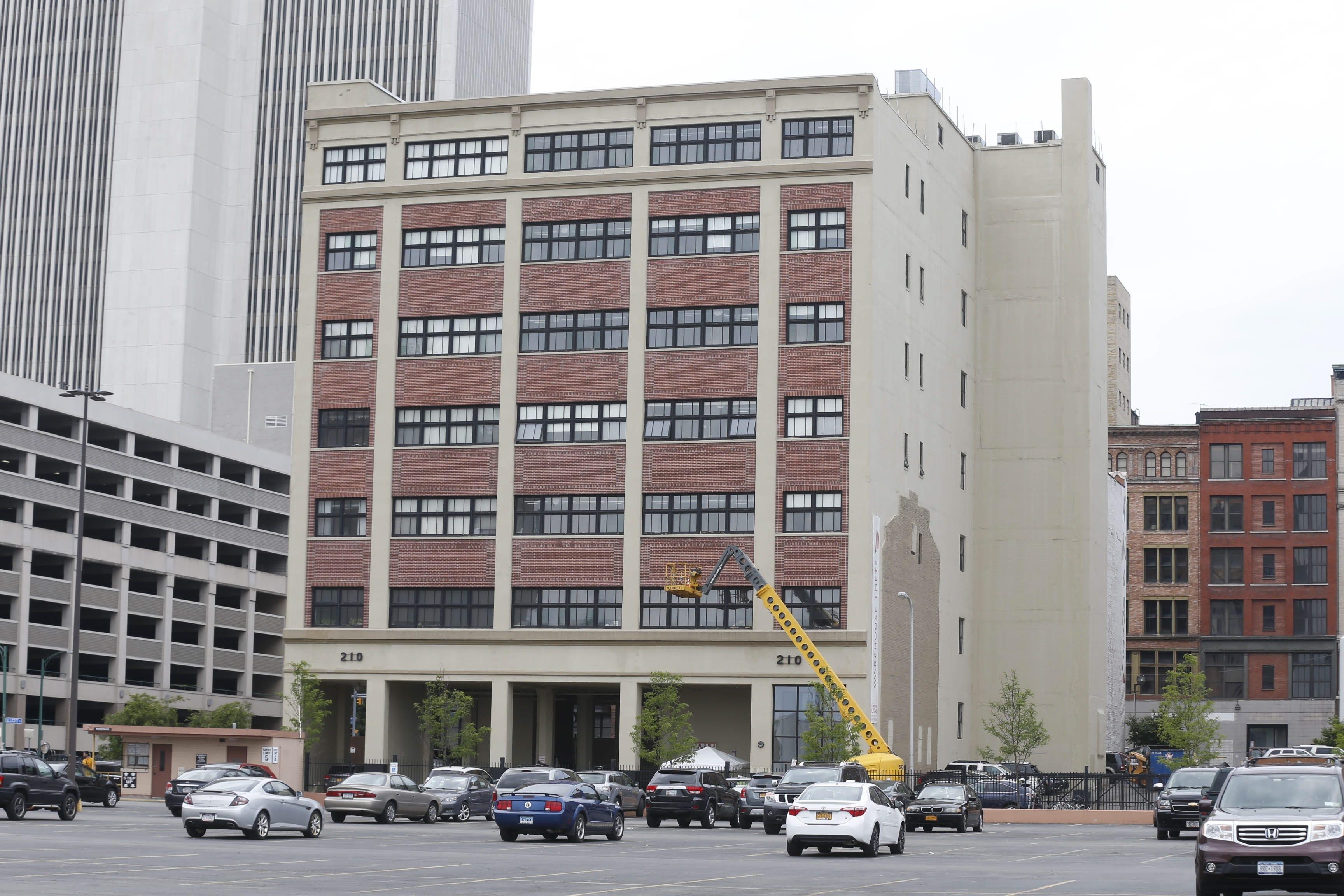 Warehouse Lofts Condominiums at 210 Ellicott St. in Buffalo.   (Robert Kirkham/Buffalo News)