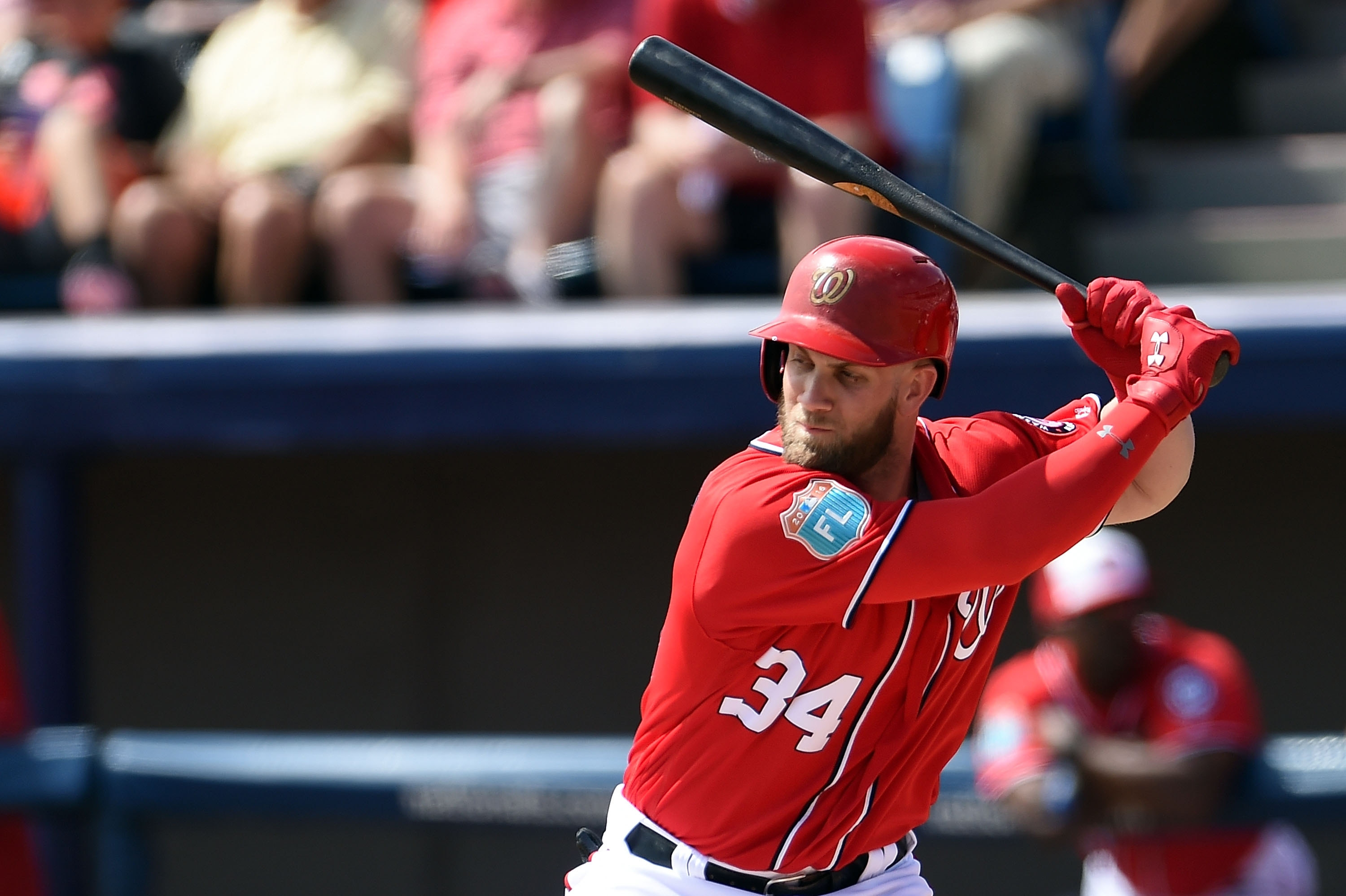 Bryce Harper of the Washington Nationals, only 23, is the reigning National League Most Valuable Player.