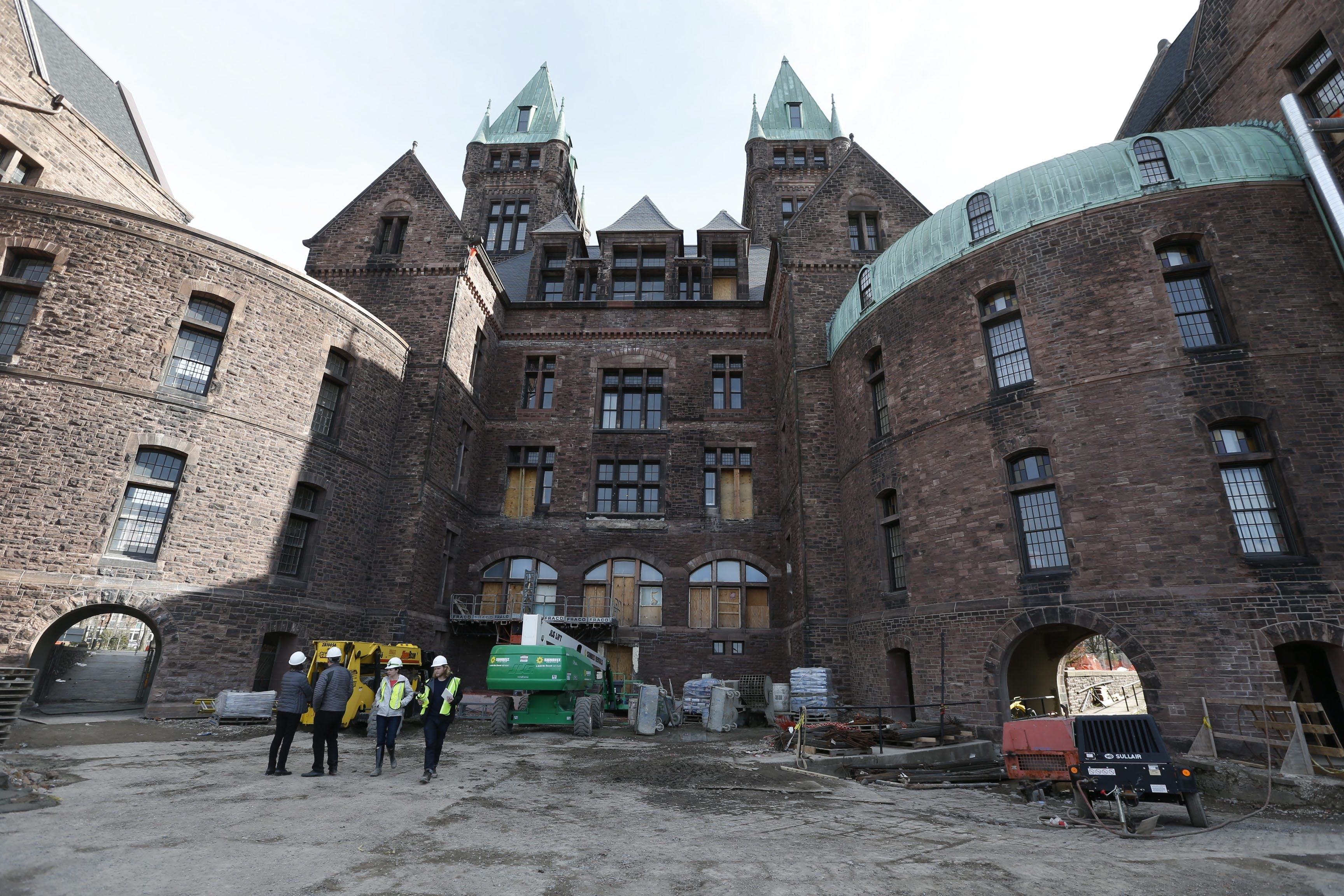 Construction continues at the Richardson Olmsted Complex. (Robert Kirkham/Buffalo News)