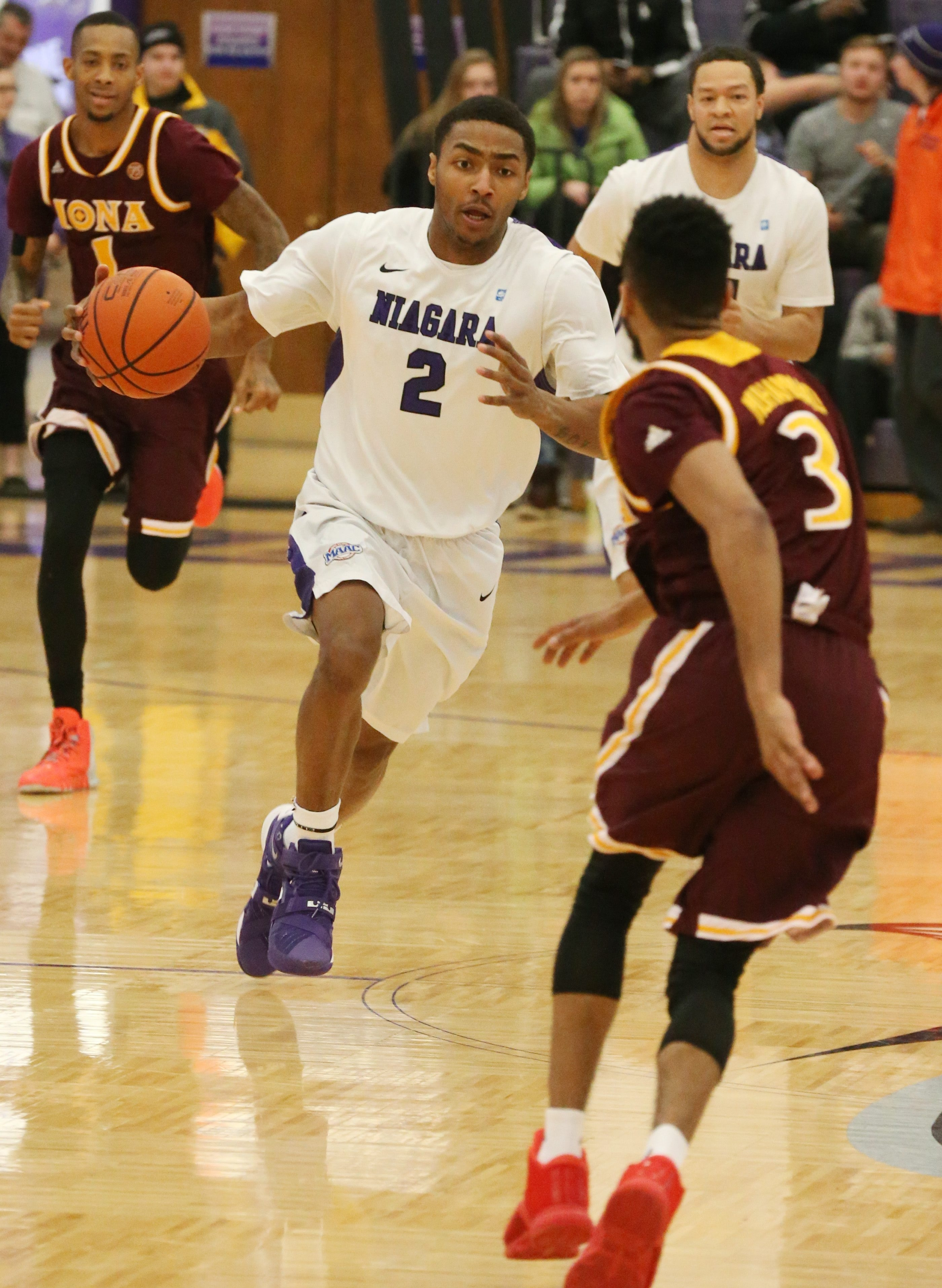 Emile Blackman was not only the Purple Eagles' leading scorer, but their emotional leader as well.
