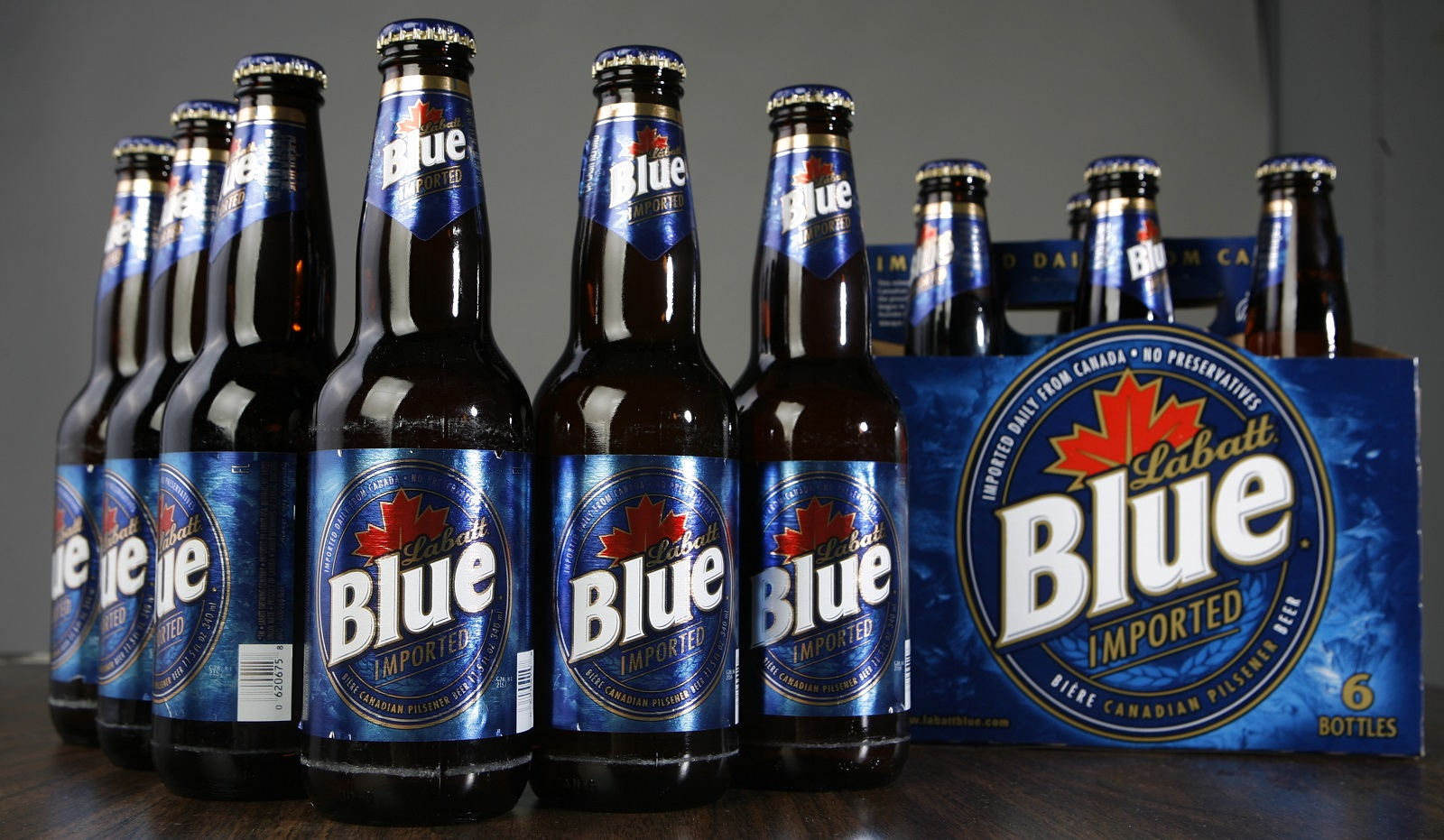 Labatt Blue may be brewed in Canada, but its sales headquarters is in Buffalo. (John Hickey/News file photo)