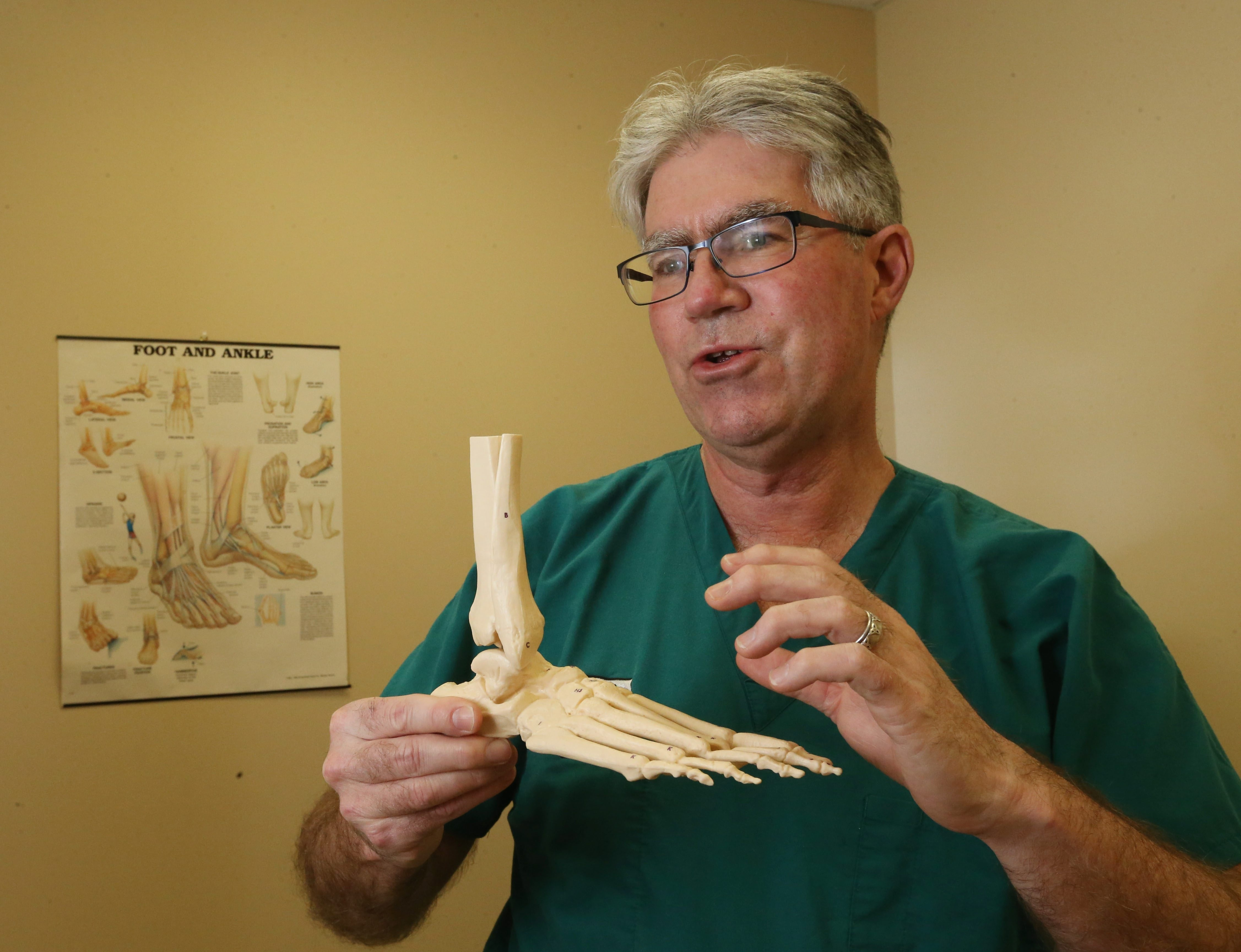 """There are 26 bones and numerous joints in the foot. They have to function in harmony in order for the foot to operate efficiently. "" – Dr. John Hurley, Doctor of Podiatric Medicine, of Excelsior Orthopaedics, speaking about common injuries of the foot and the importance of treating them."