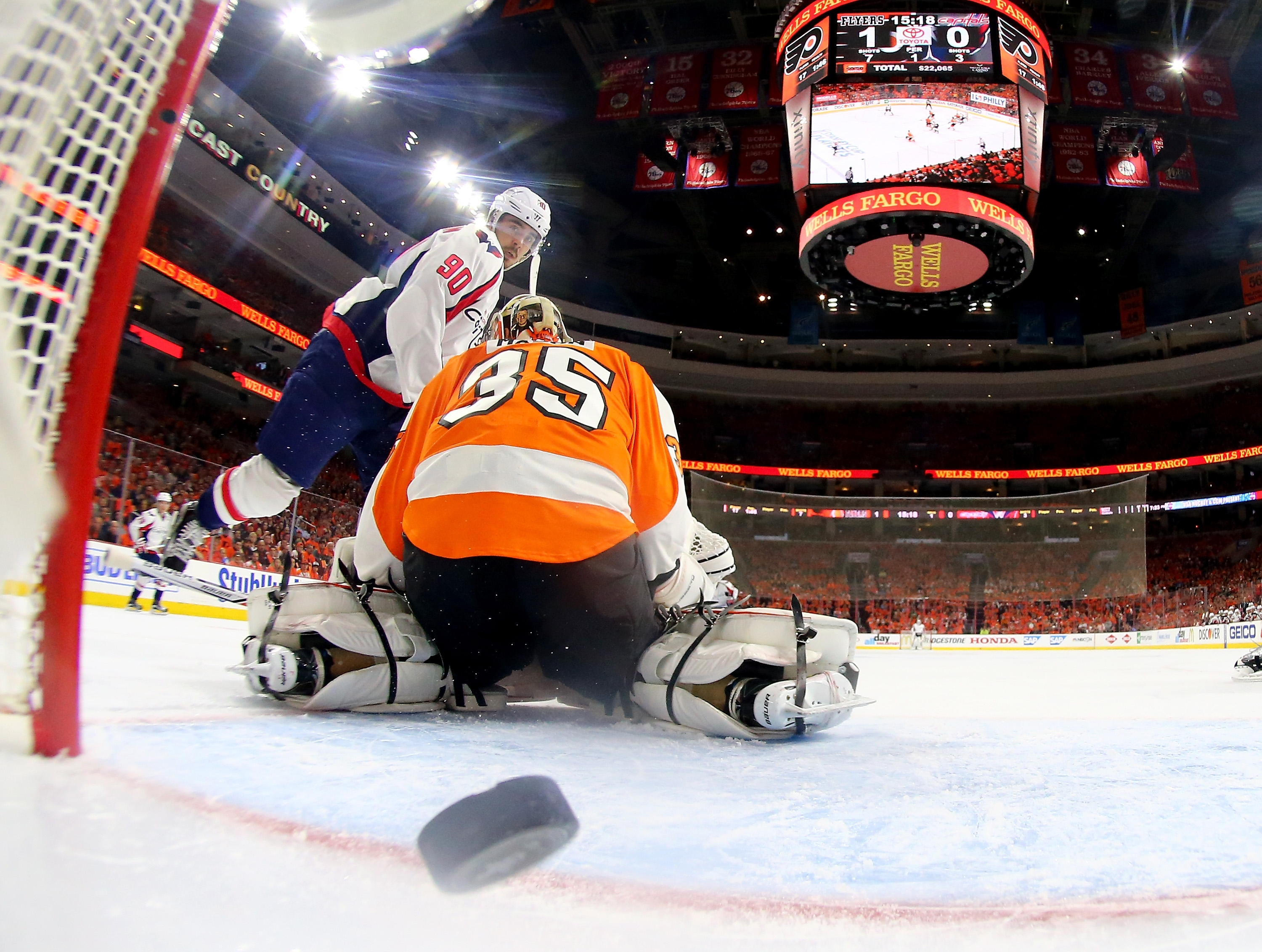 Mark Gaughan would be more than happy to see more of this from the Capitals against the Flyers in Game Four.