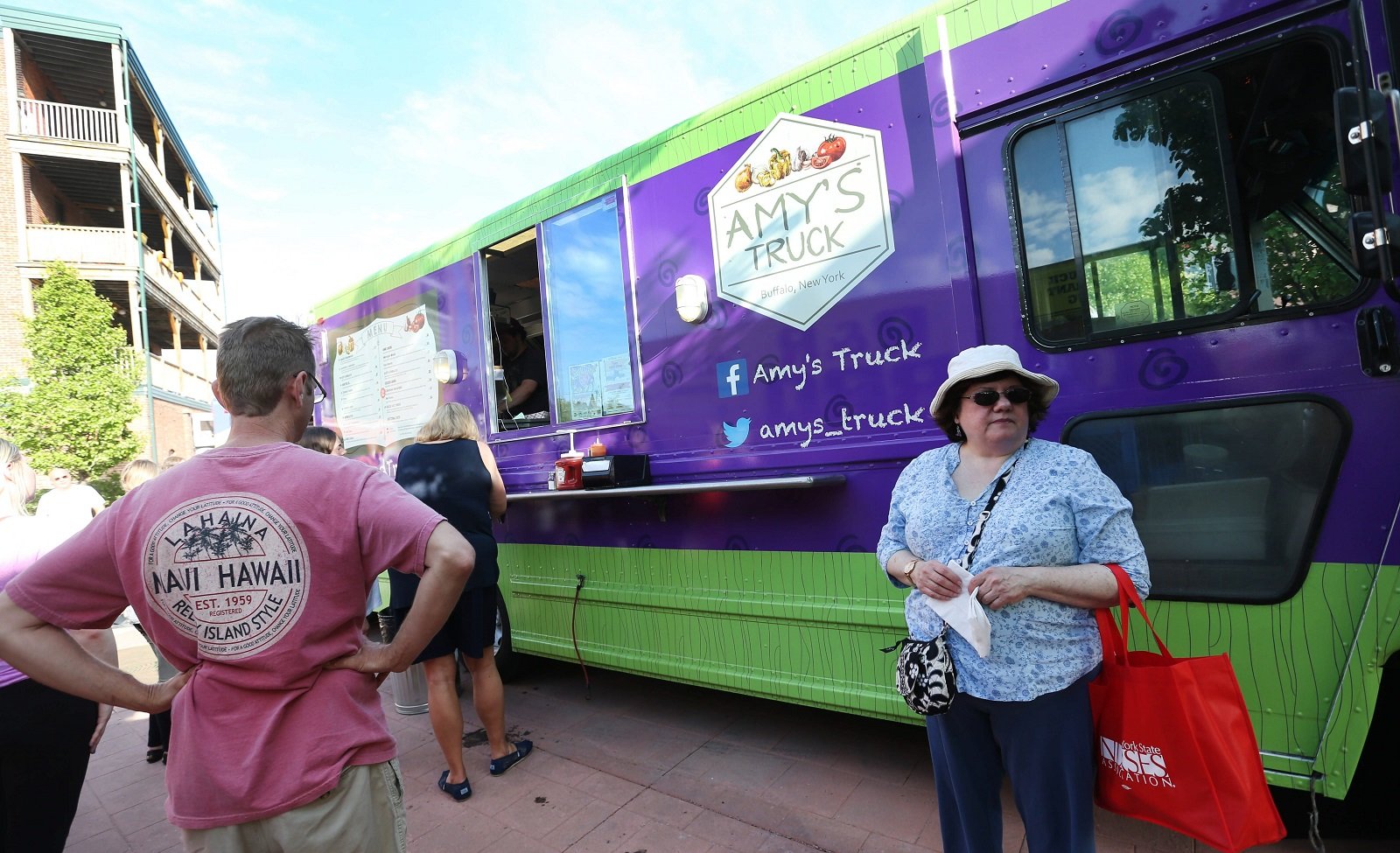 Amy's Truck parks at Food Truck Tuesday in spring 2015. (Sharon Cantillon/Buffalo News file photo)