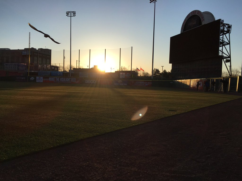 Coca-Cola Field wakes up on the morning of its home opener. (@BuffaloBIsons photo)