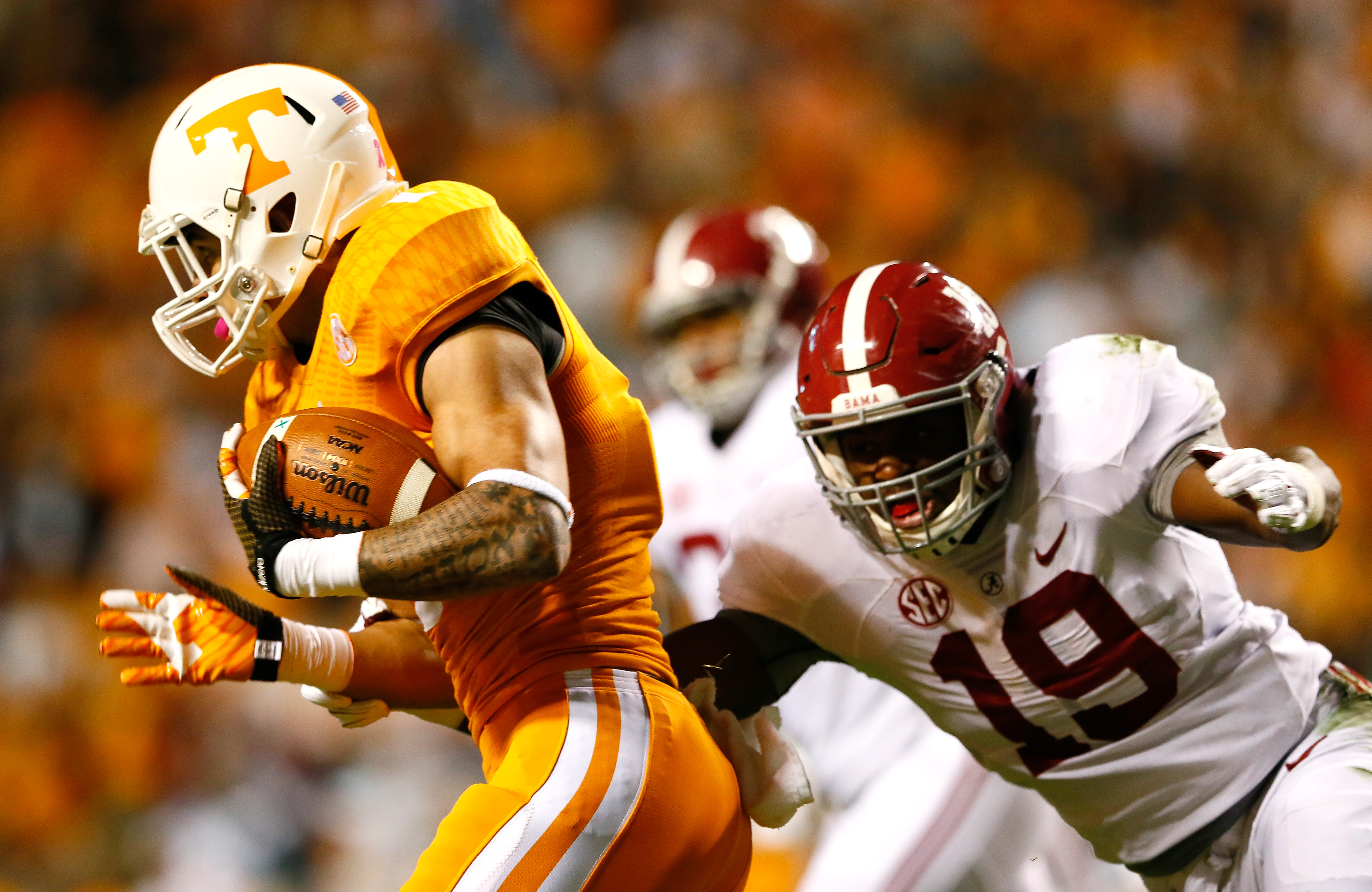 Reggie Ragland (19) of Alabama is part of an impressive focus on defense for the Bills thus far in the draft. (Getty Images)