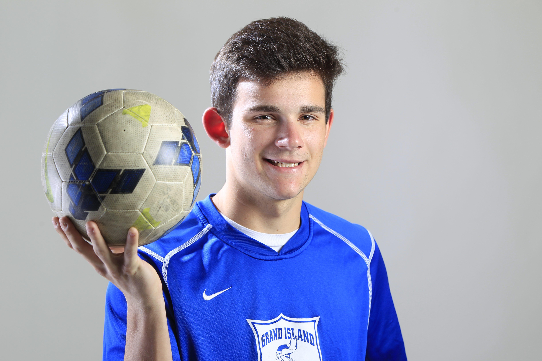 Troy Brady of Grand Island, the Prep Talk Player of the Year for boys soccer. (Harry Scull Jr./Buffalo News)