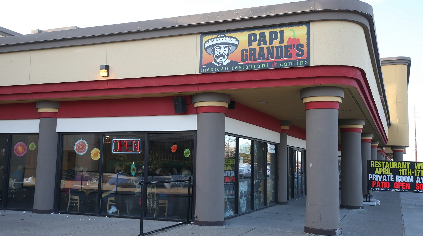 Papi Grande's Mexican Restaurant & Cantina opened recently at 4276 Maple Road in Amherst next to the AMC Maple Ridge 8 theater. (Sharon Cantillon/Buffalo News)