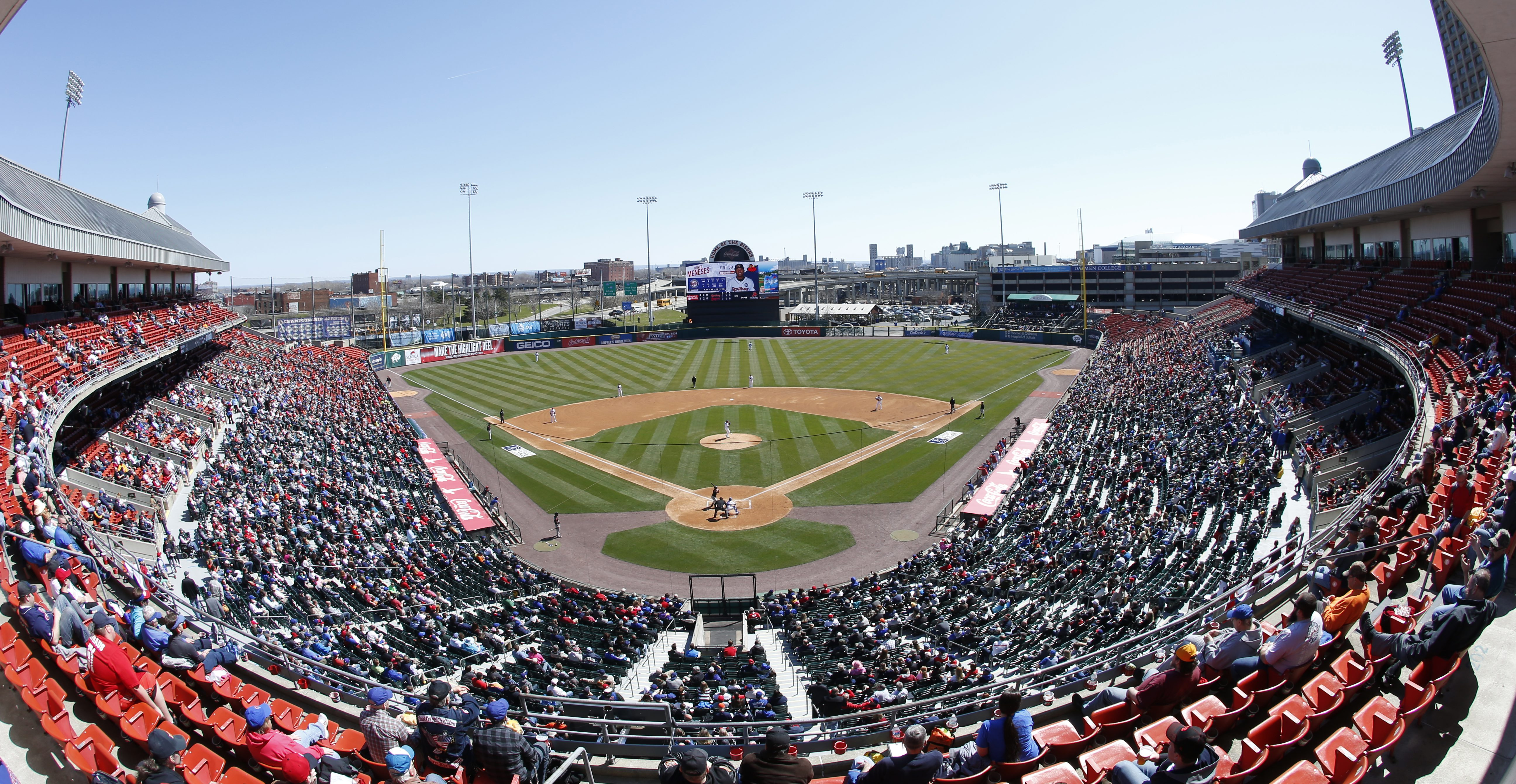 Opening day between the Buffalo Bisons and Rochester Red Wings at Coca-Cola Field on Thursday, April 14, 2016. (Harry Scull Jr./Buffalo News)