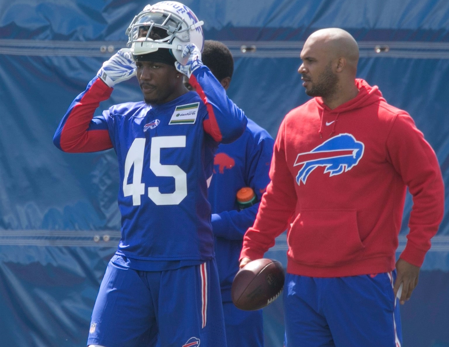 Rookie Kevon Seymour had an impressive spring, playing himself onto the  53-man roster in The Buffalo News' most recent projection. (John Hickey/Buffalo News)
