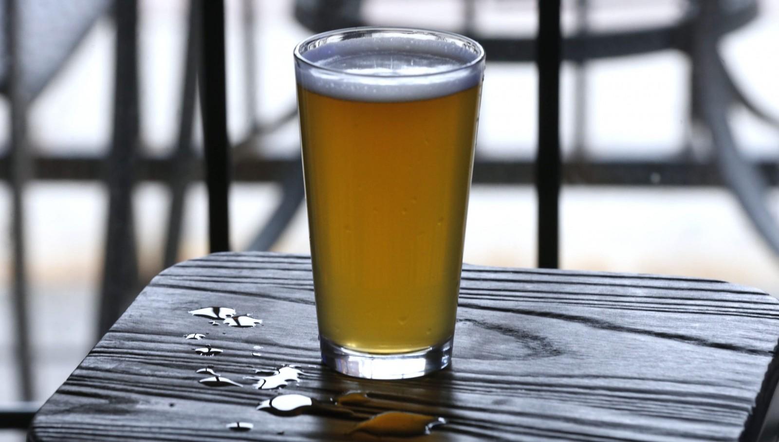 A refreshing pint of 42 North Brewery's Wallonia Wit at Local Kitchen & Beer Bar at 88 W. Chippewa St. in Buffalo on Saturday, May 7, 2016.  (Robert Kirkham/Buffalo News)