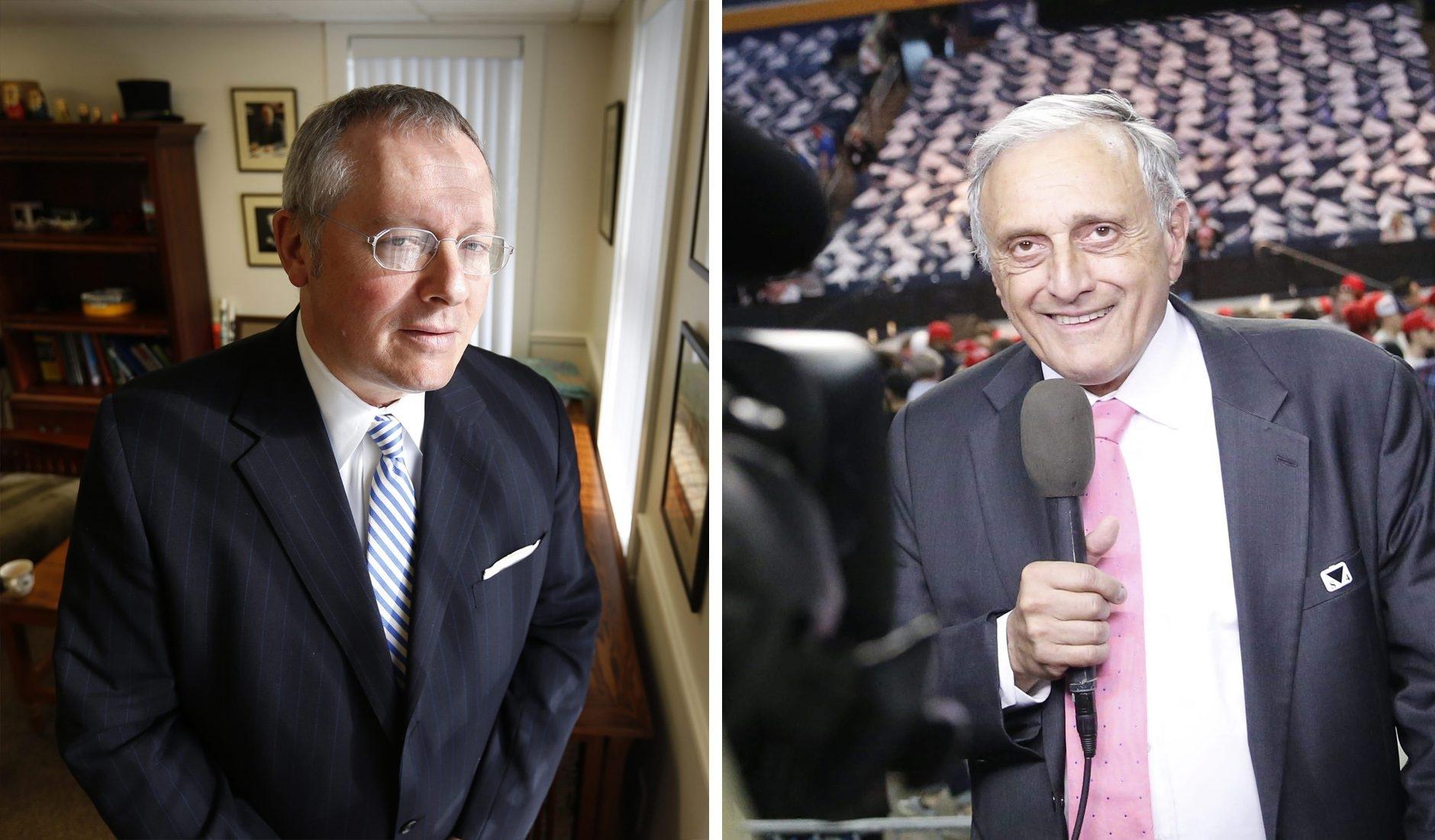 Michael Caputo, left, managed the 2010 gubernatorial campaign of Carl Paladino, right. (News file photos)