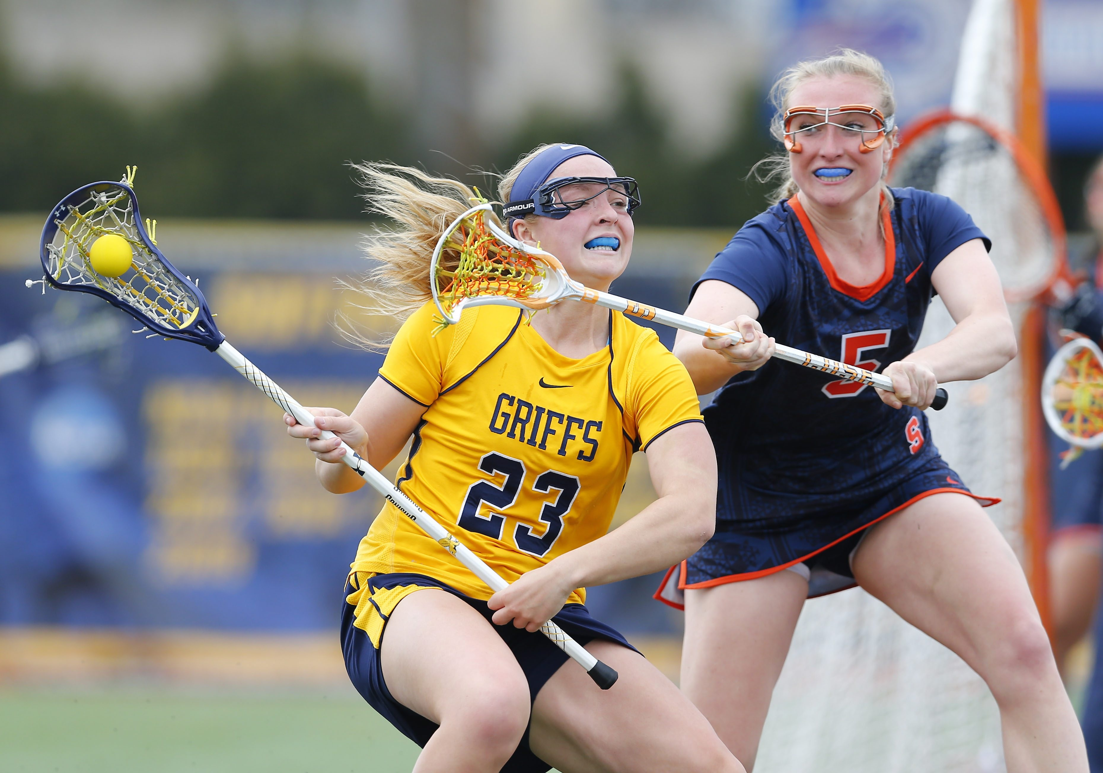 Jourdan Roemer of Canisius tries to get past Haley McDonnell of Syracuse in their game on Tuesday.