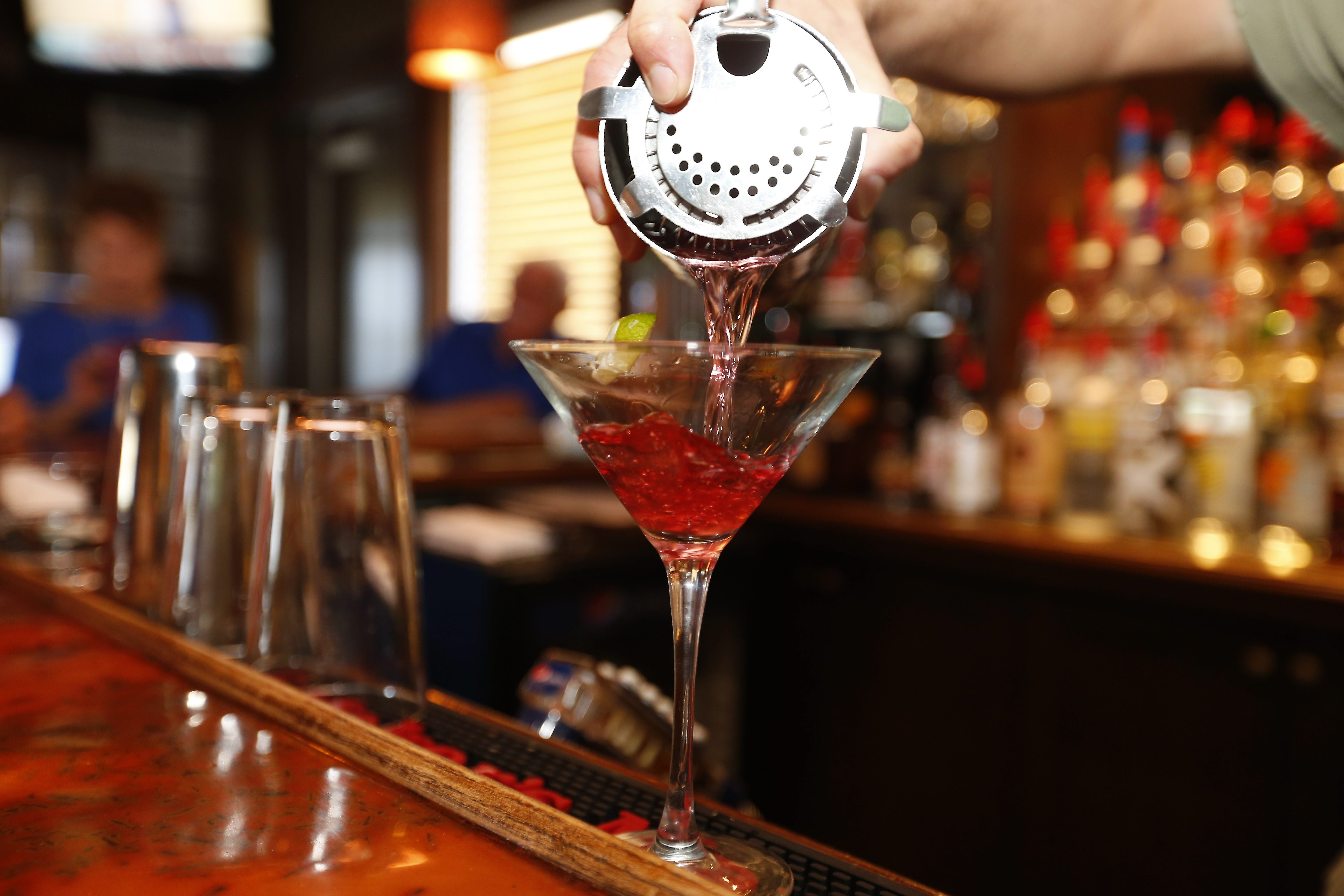 Enjoy a Cosmopolitan or another drink at the Waterstone Grill in Hamburg. (Mark Mulville/Buffalo News)