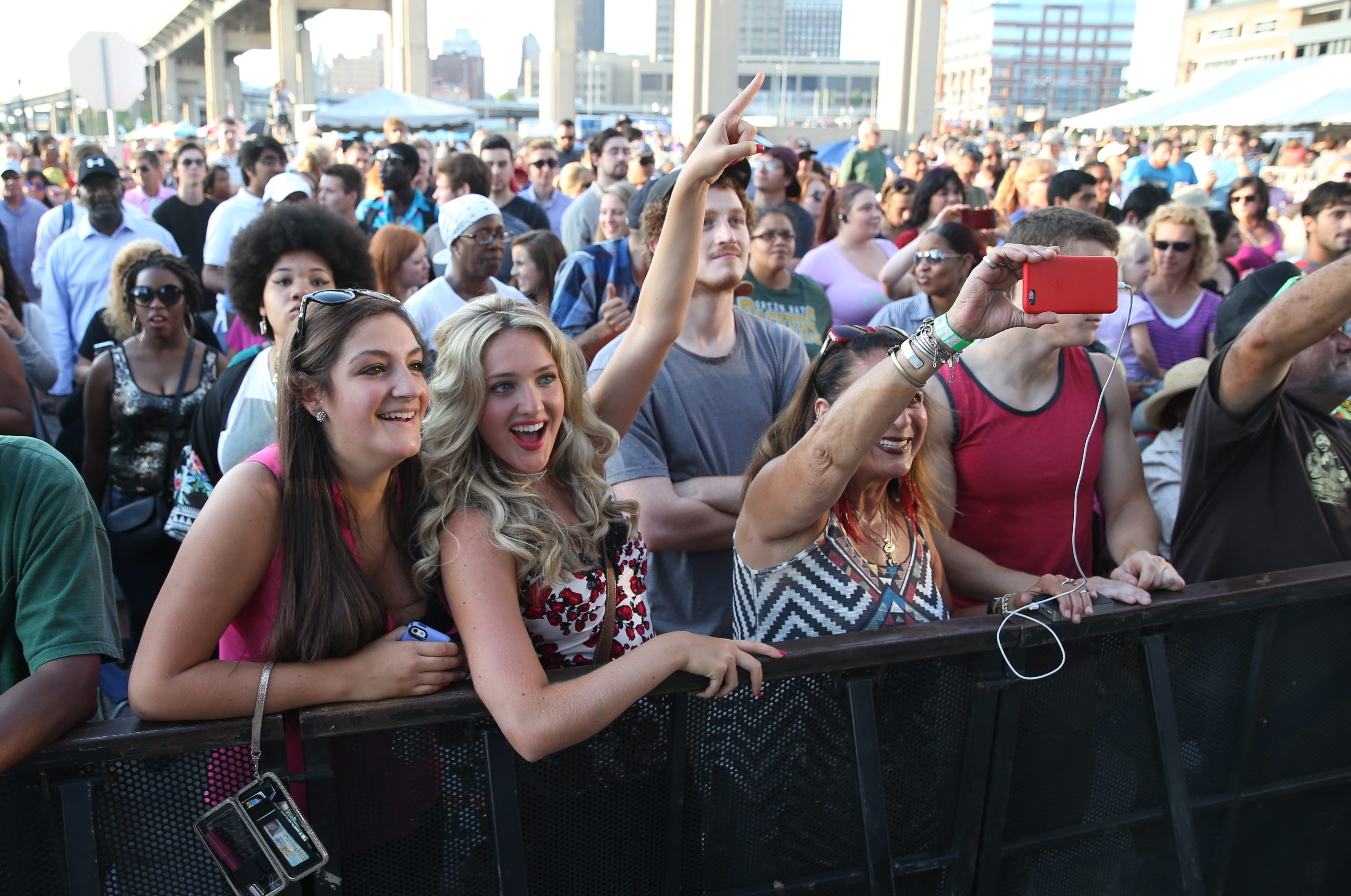 Those front of the stage spots at free concerts like Canalside now come with a VIP price tag. (Sharon Cantillon/Buffalo News file photo)