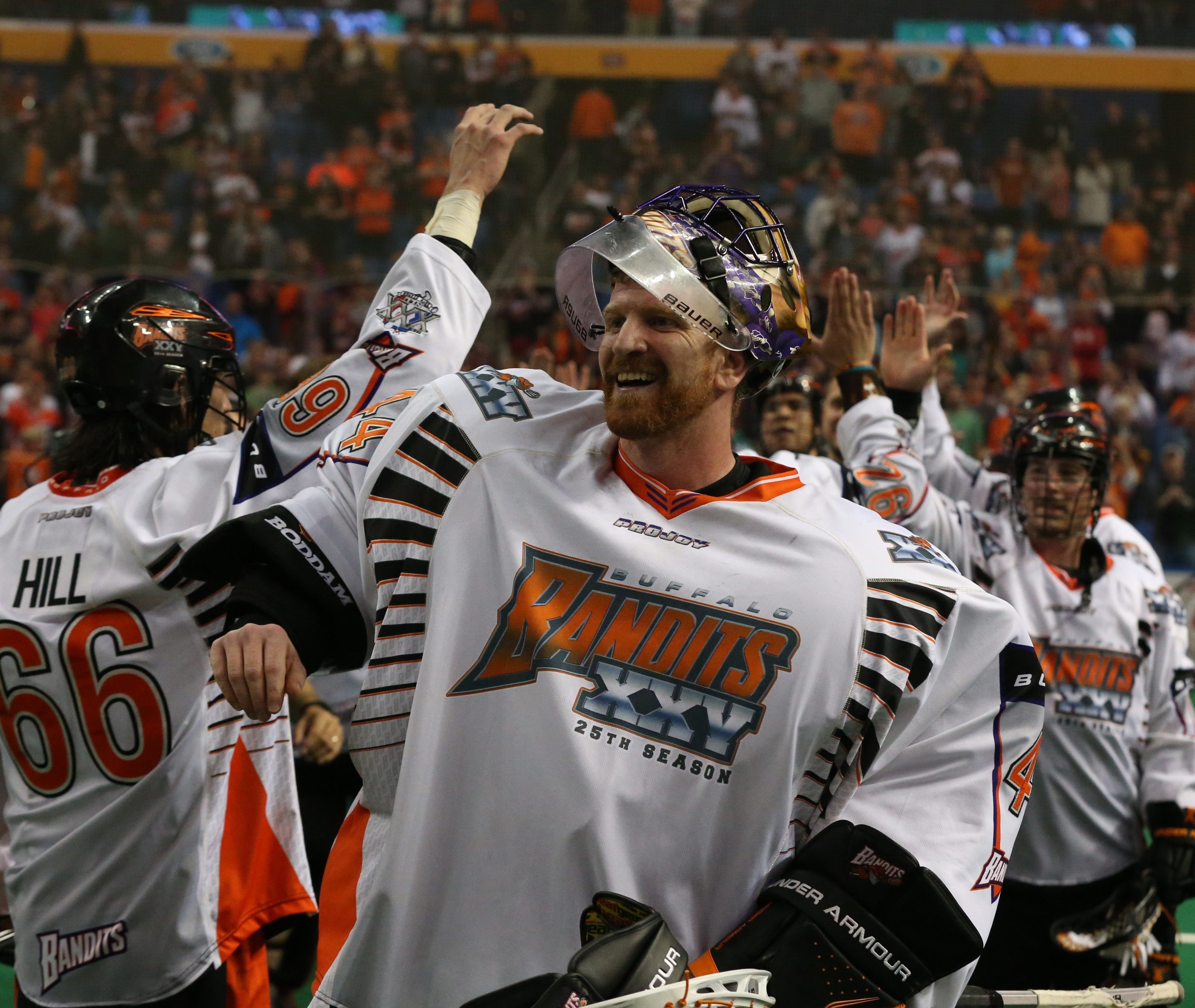 Anthony Cosmo was delighted to reach the NLL finals after his Bandits beat New England on Saturday night.