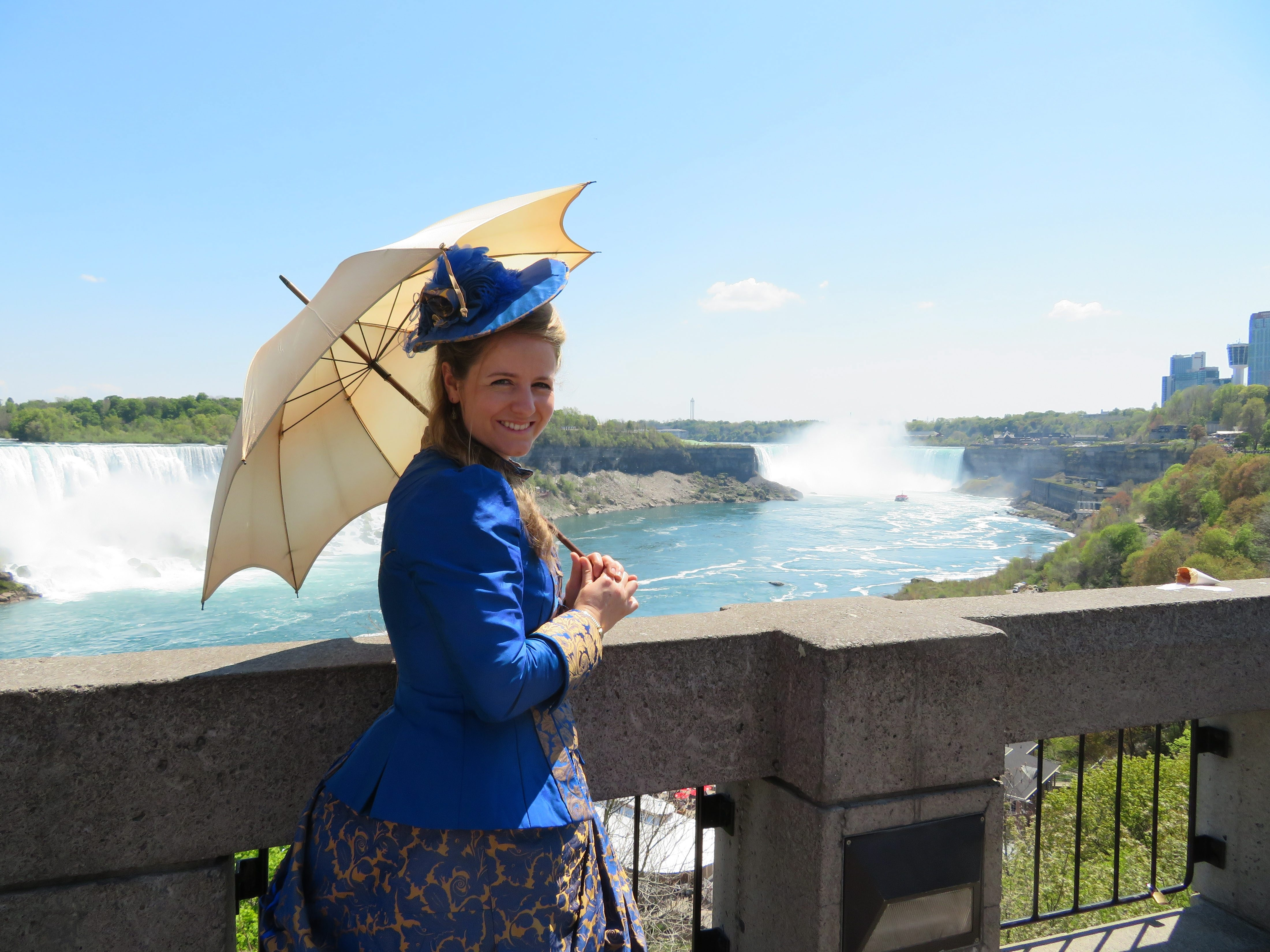 Sibylle Randoll is re-creating her great-great-grandfather's journey from Germany to Montana. On Monday, she stopped in Niagara Falls.