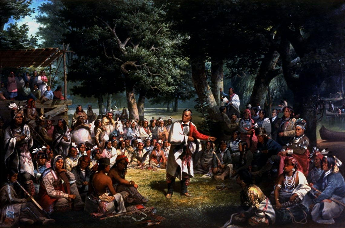 Seneca Nation leaders, including Red Jacket, portrayed here, have signed many treaties over the decades.