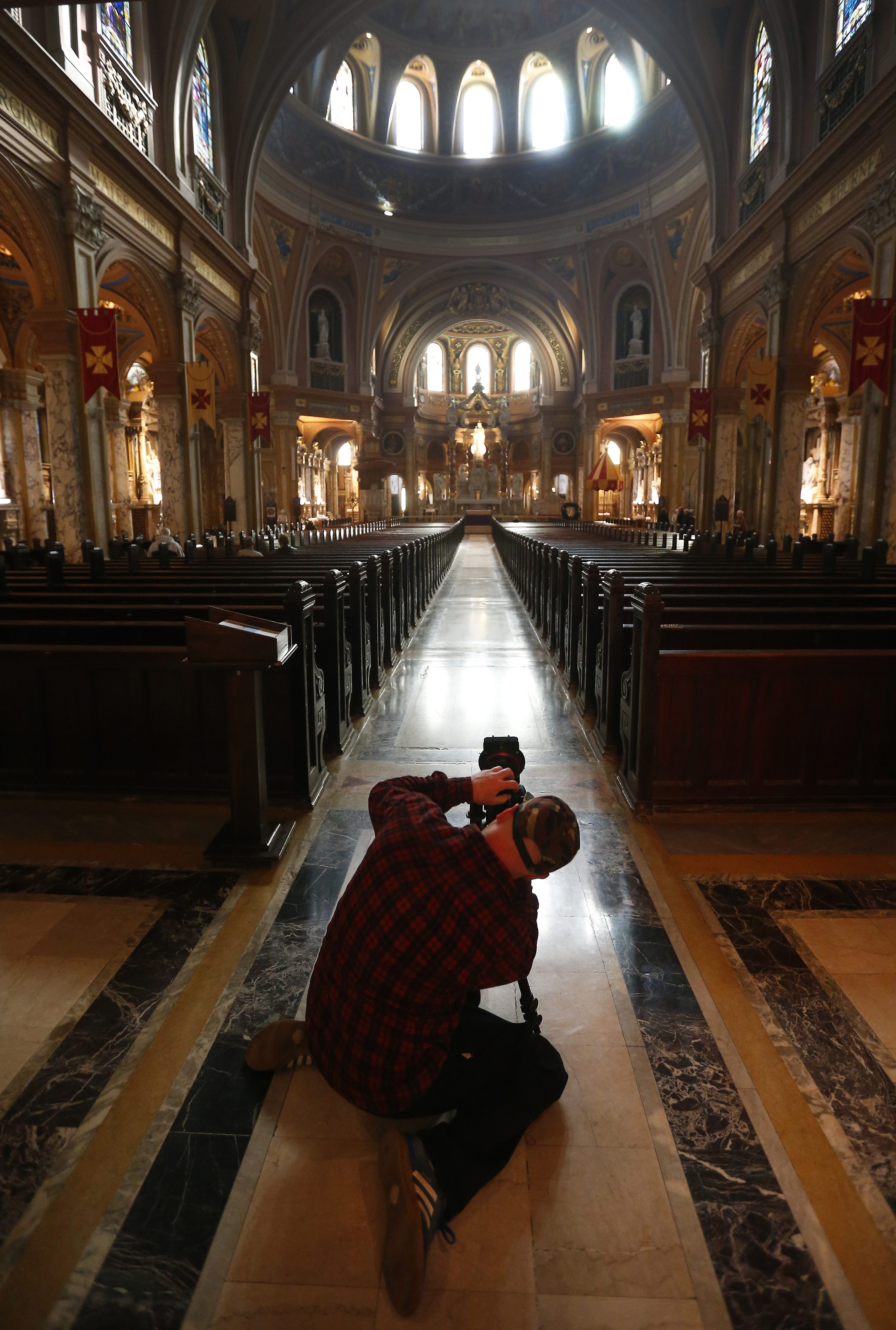 Listen to the silence of a large, open splendid spaces, such as Our Lady of Victory Basilica. Meditate, contemplate, you might even want to pray.