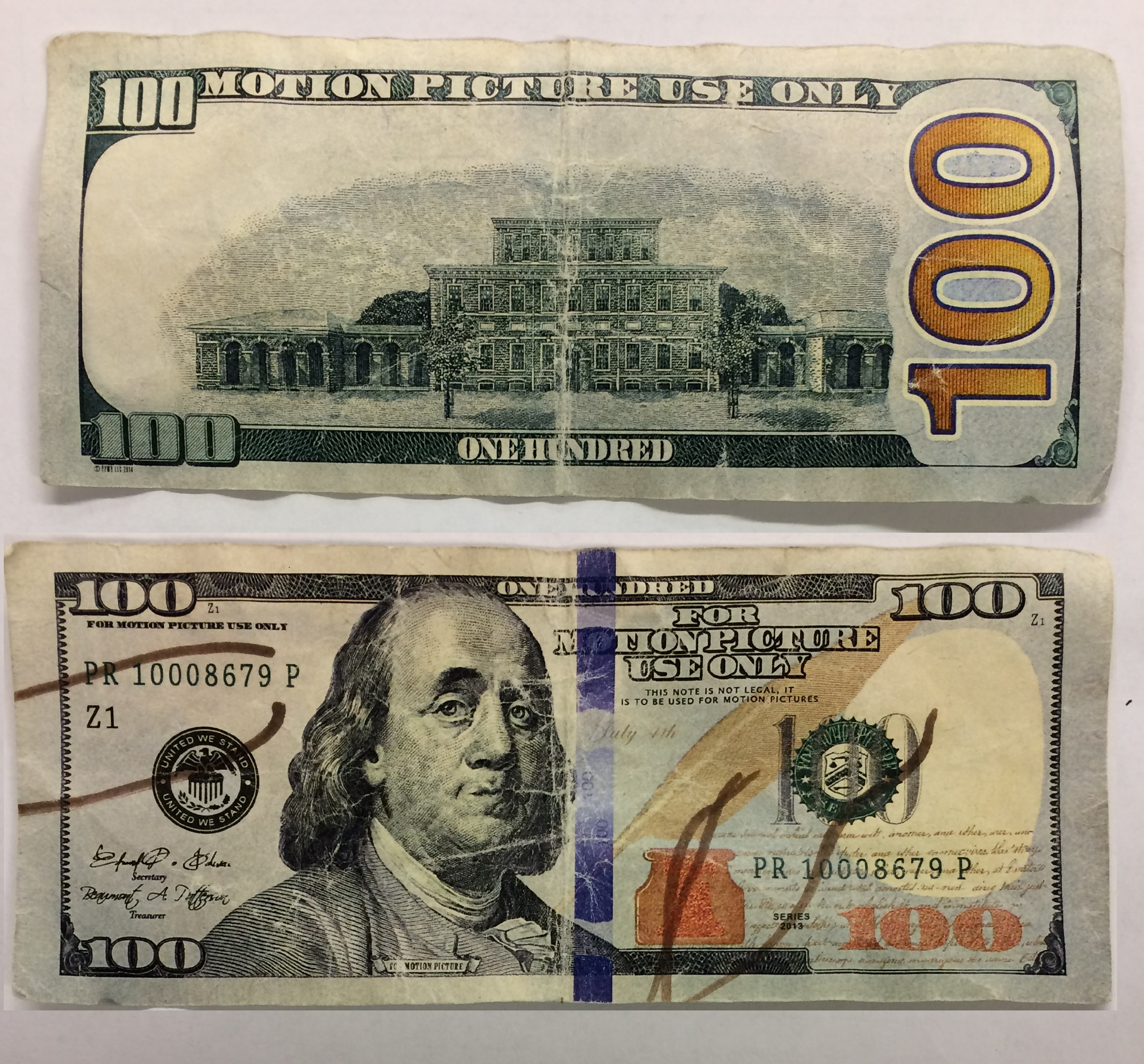 Movie prop money looks like the real thing, Cheektowaga police warn.