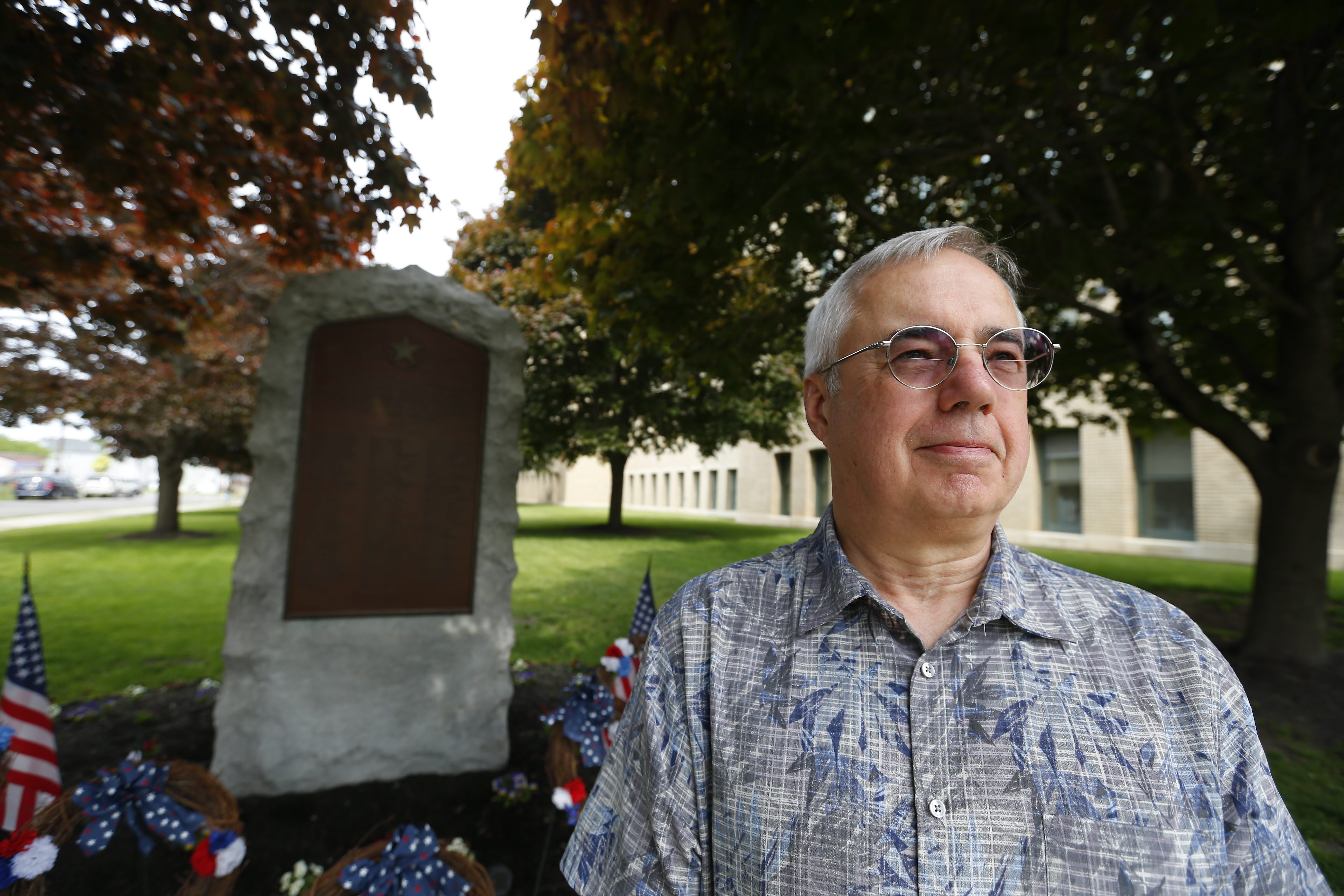"""I was looking at these names on the monument, and I thought to myself, 'These people are more than just names on a plaque or a piece of rock. What are the stories behind these names?' "" – Matthew Parsons at South Park High's WWII monument"