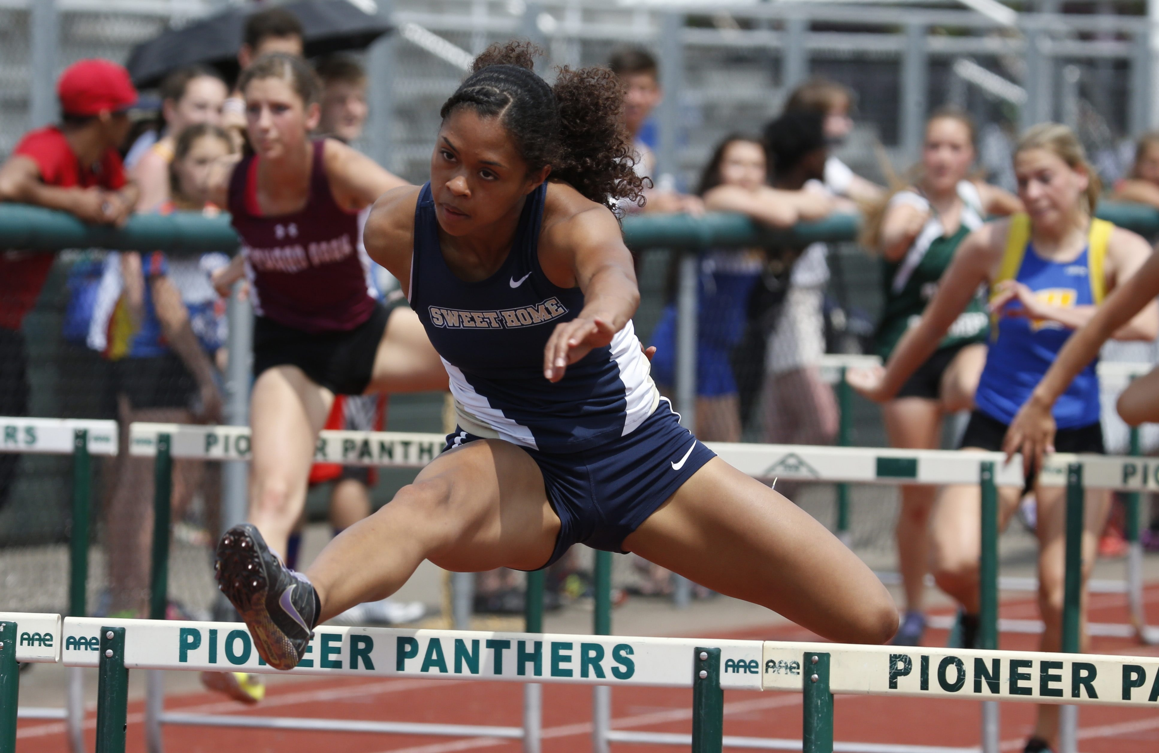 Sweet Home's Tiana Luton shelved her specialty, the pentathlon, to compete in (and win) four individual events.