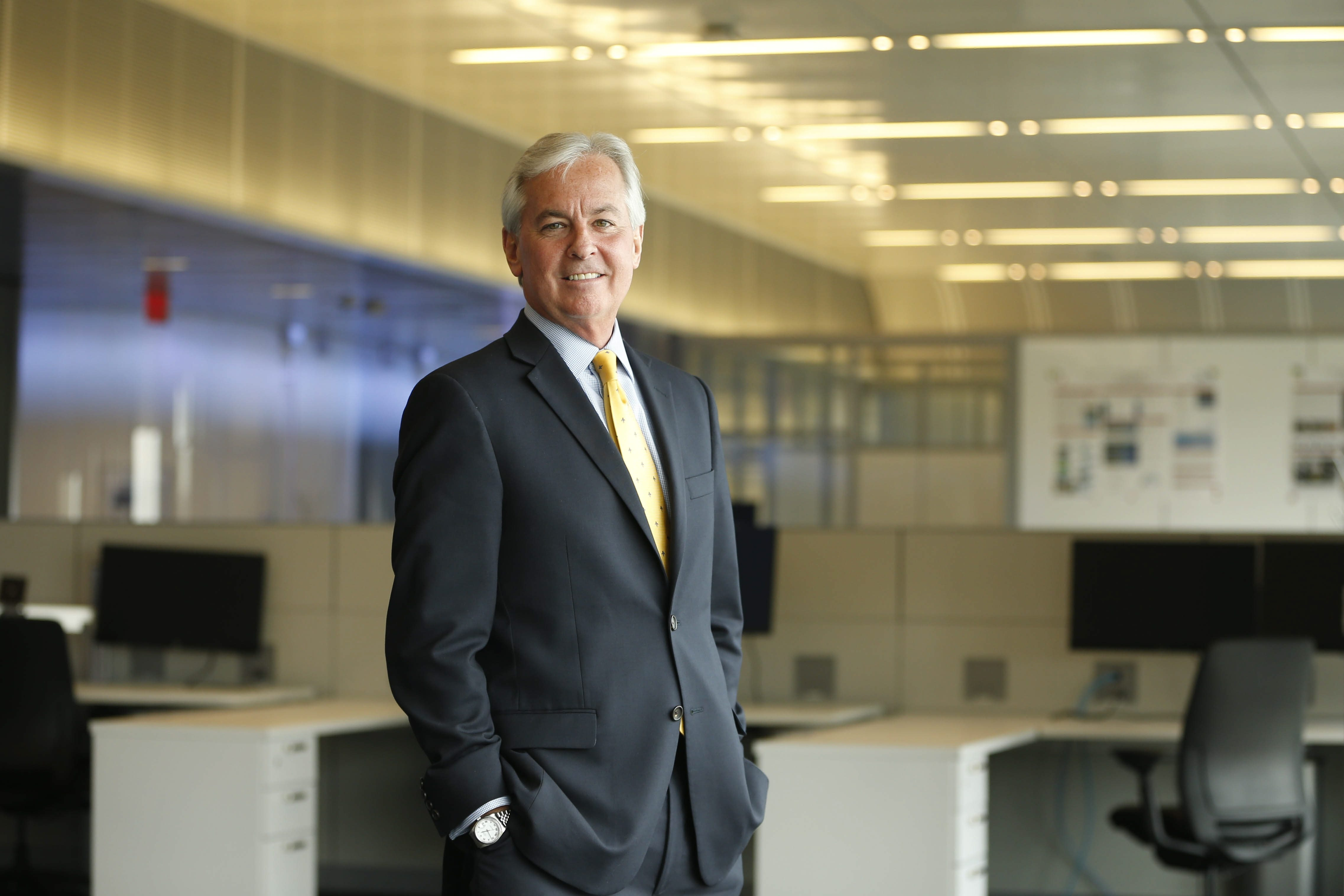 Thomas P. Quinn, strategic advisor and former CEO of Infonaut, at the Jacobs Institute where his company has an office.  (Derek Gee/Buffalo News)