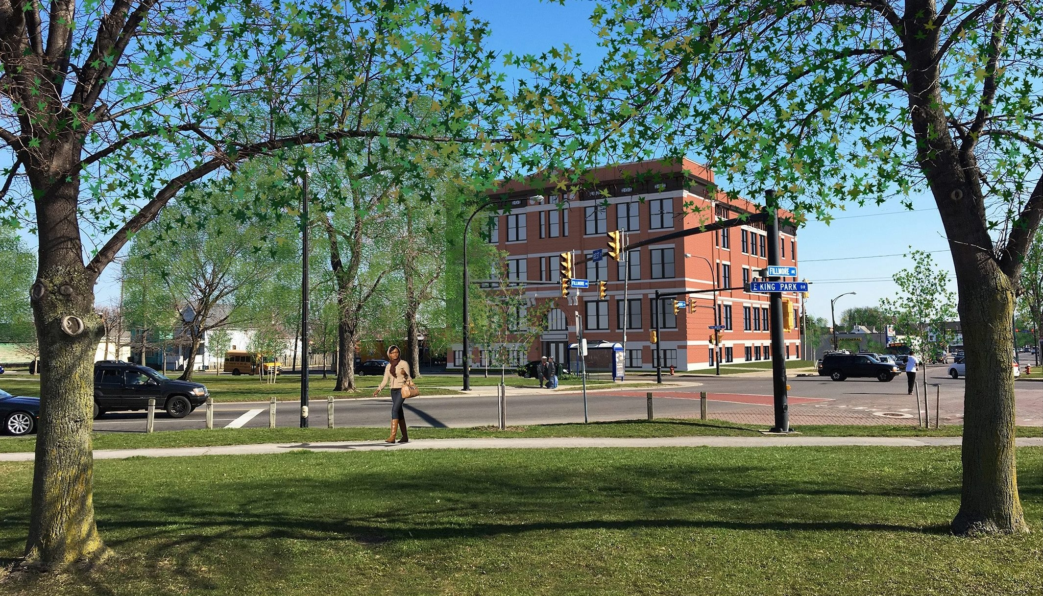 A rendering of Parkview Apartments  from Silvestri Architects.