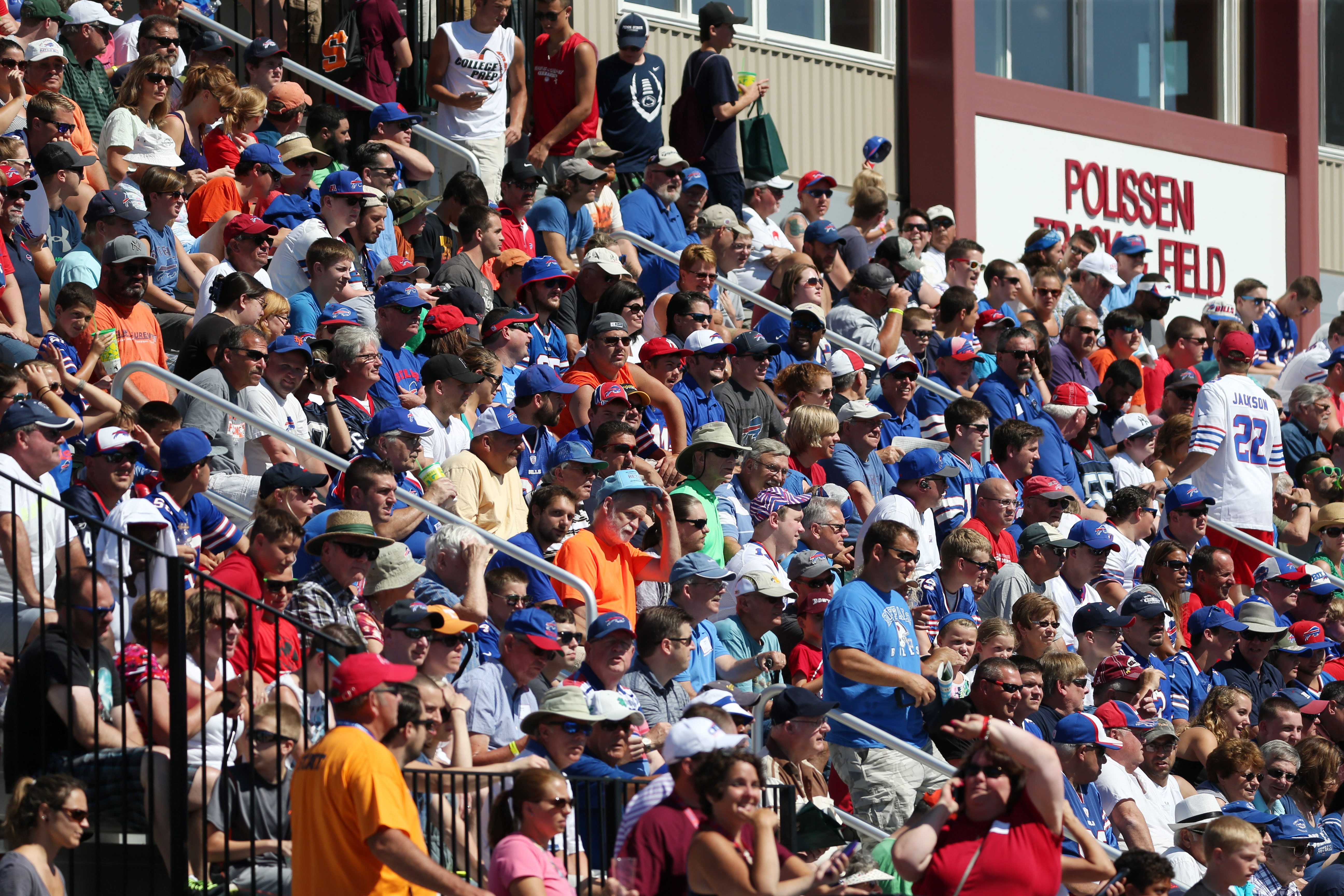 Fans watching a player drop a pass can tweet about it. But the Buffalo Bills' new media policy says reporters won't be allowed to do the same. (James P. McCoy/ Buffalo News)
