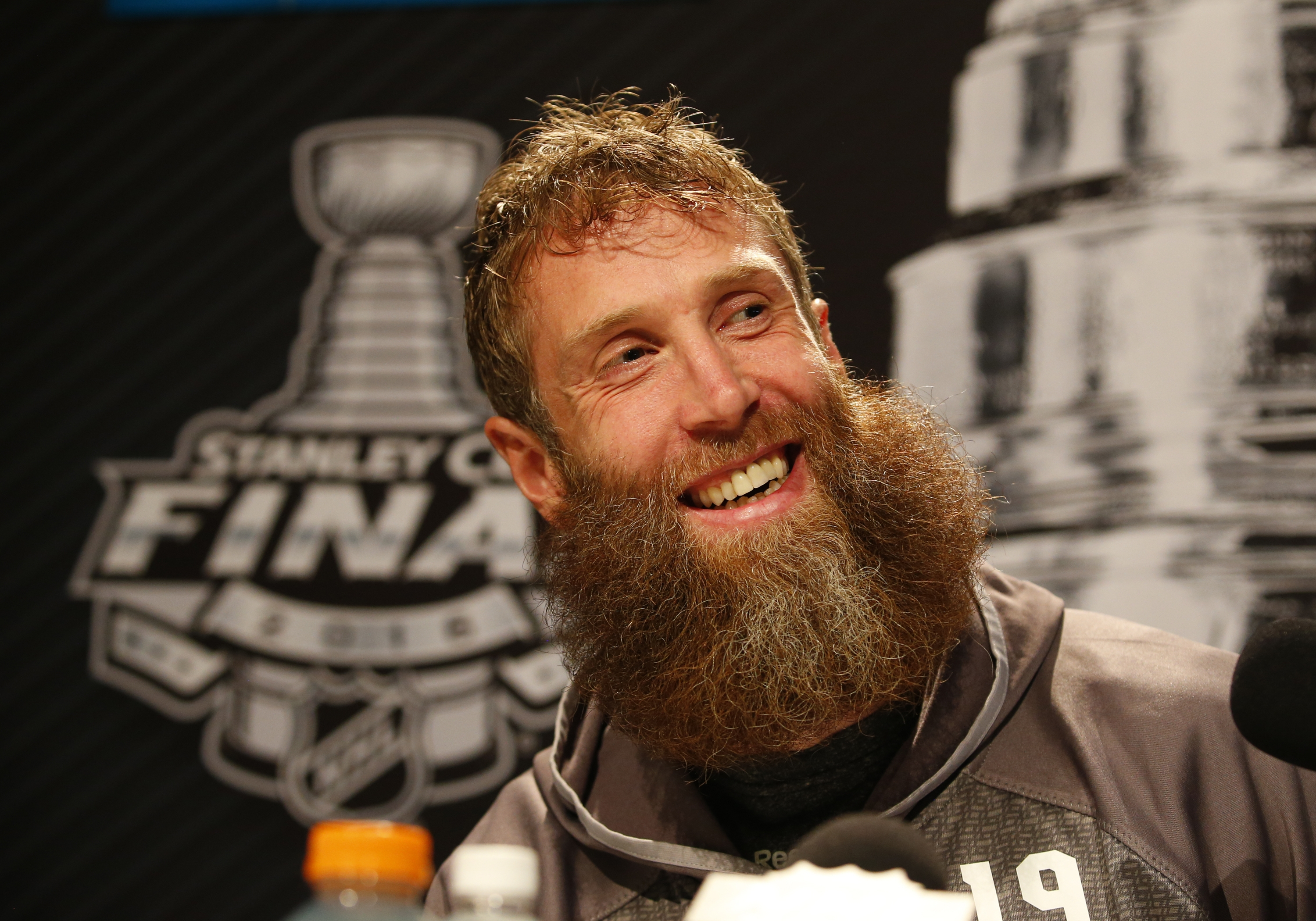 Joe Thornton of the Sharks said Sunday his playoff beard requires a lot of upkeep, including combing and regular oiling.