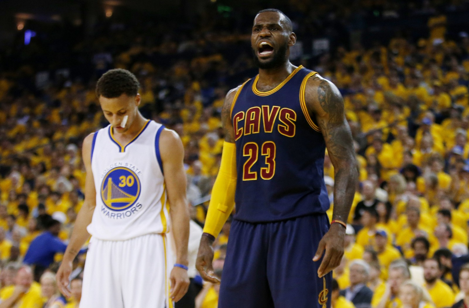 LeBron James and the Cavaliers are in serious trouble in their first-round series with the Indiana Pacers. (Getty Images)