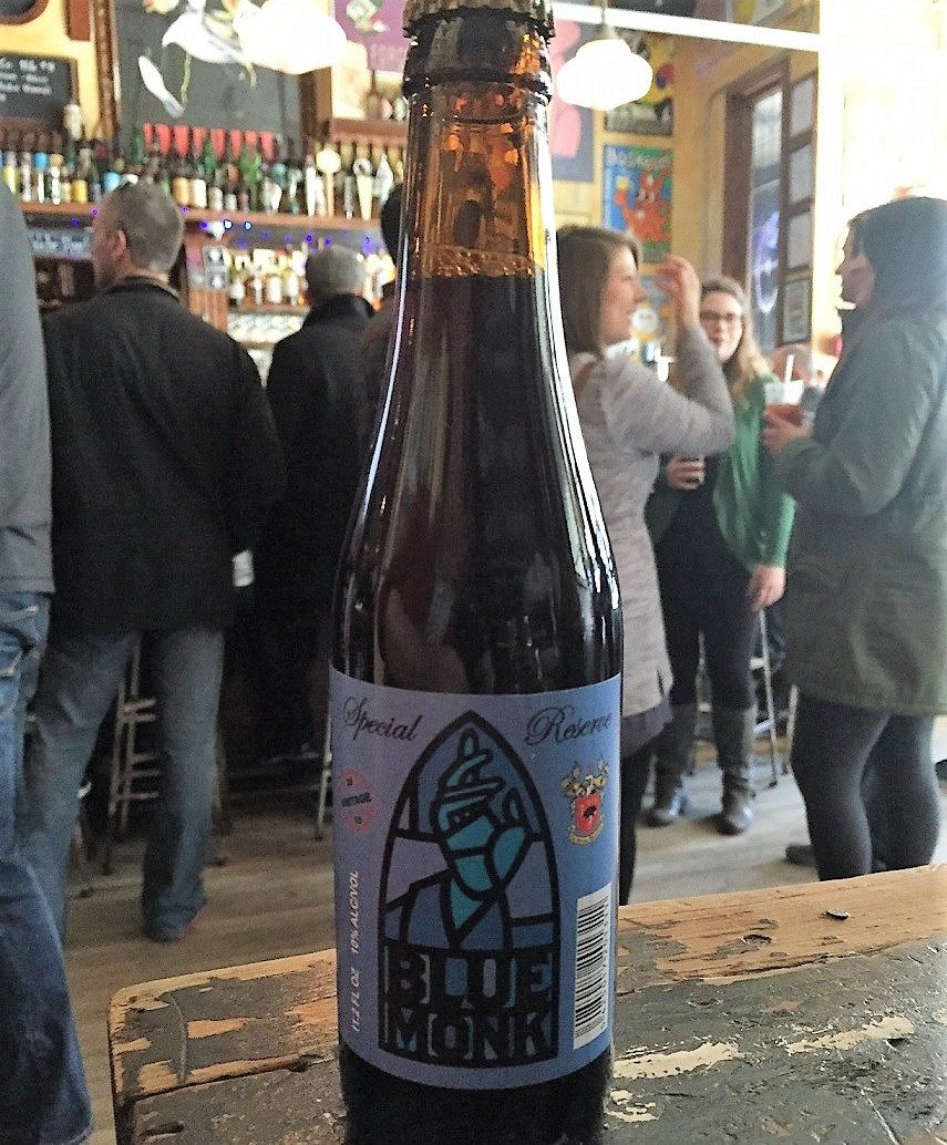 A bottle of Blue Monk Reserve made by Struise Brewery in Belgium. (Kevin Wise/Special to The News)