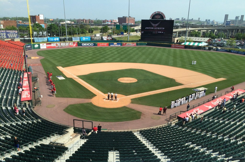 The Georgetown Cup is under way at Coca-Cola Field. (Nick Veronica)