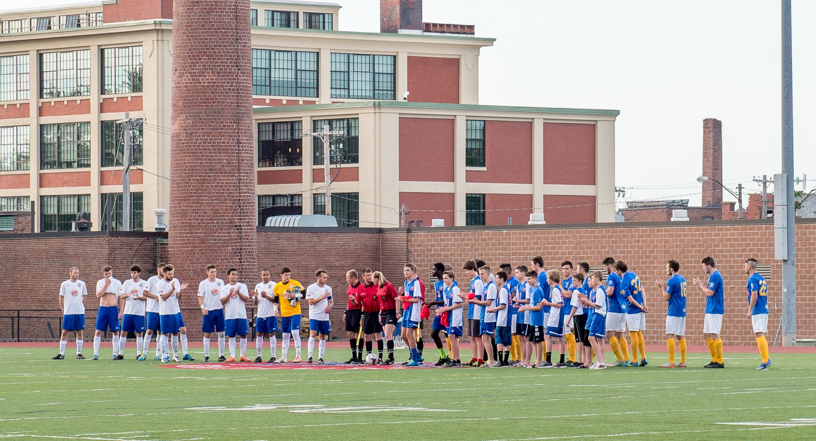 The rivalry match between FC Buffalo and Erie, pictured in 2016, is back on tap for the coming season.(Matt Weinberg/Special to The News)